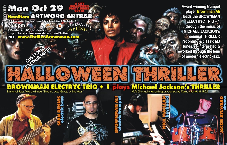 BROWNMAN'S Halloween Thriller (hamilton) - Michael Jackson As Electric-jazz
