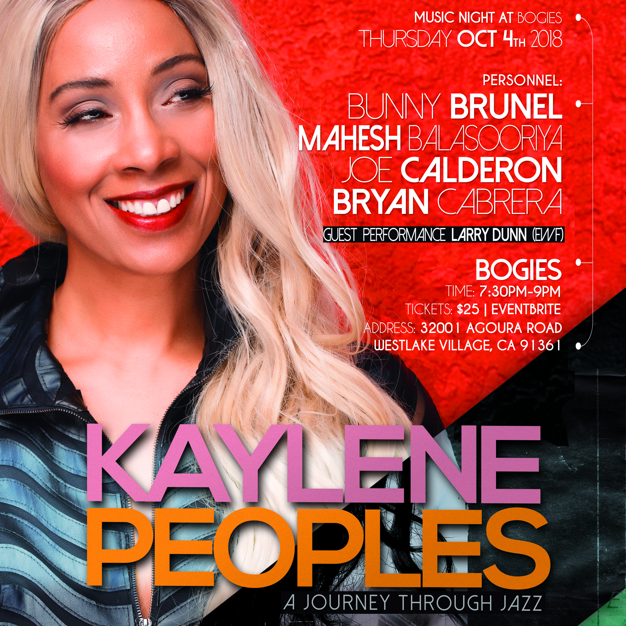 Kaylene Peoples - A Journey Through Jazz with Special Guest Larry Dunn