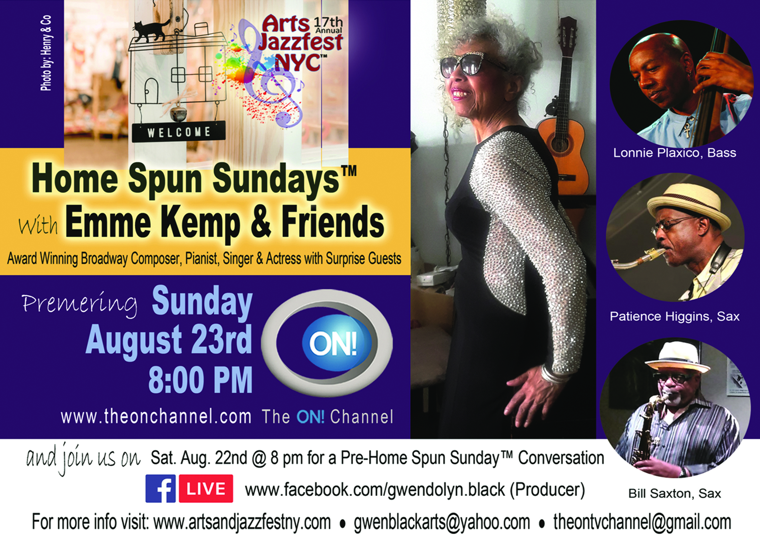 Emme Kemp With Lonnie Plaxico, Patience Higgins, Bill Saxon And More!