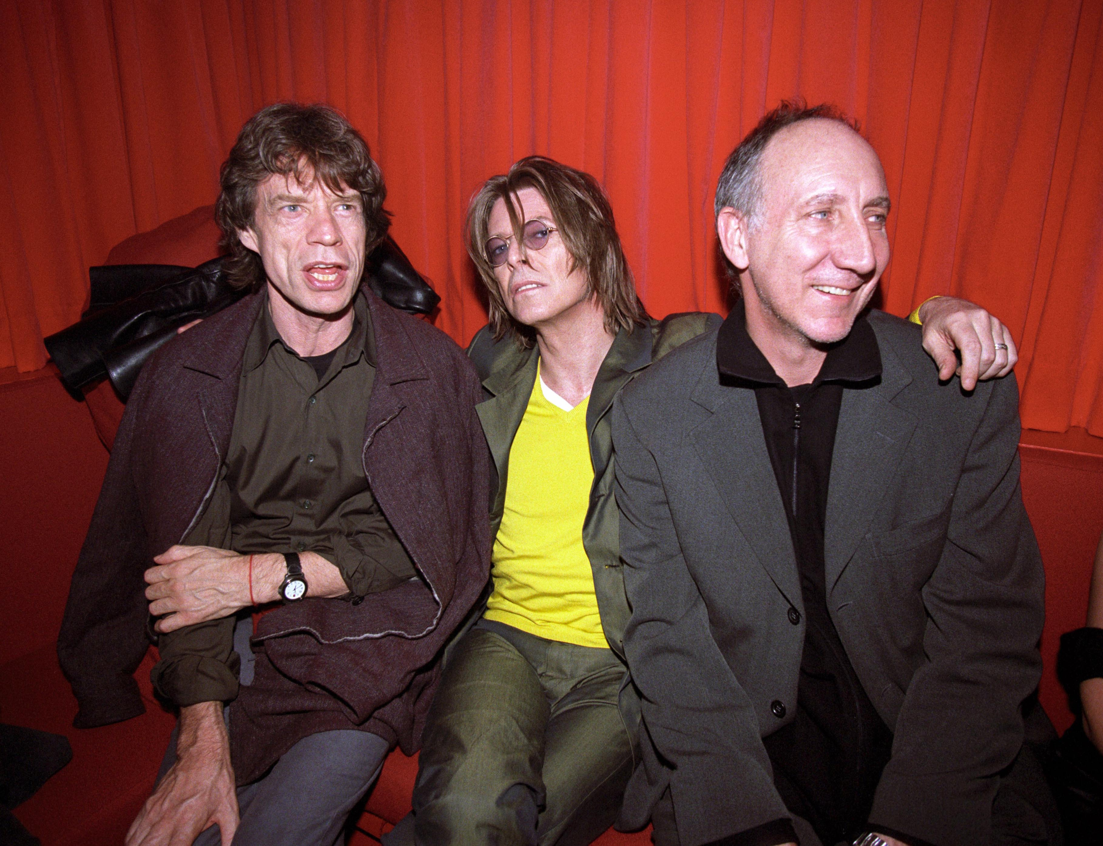 Mick Jagger, David Bowie and Pete Townshend