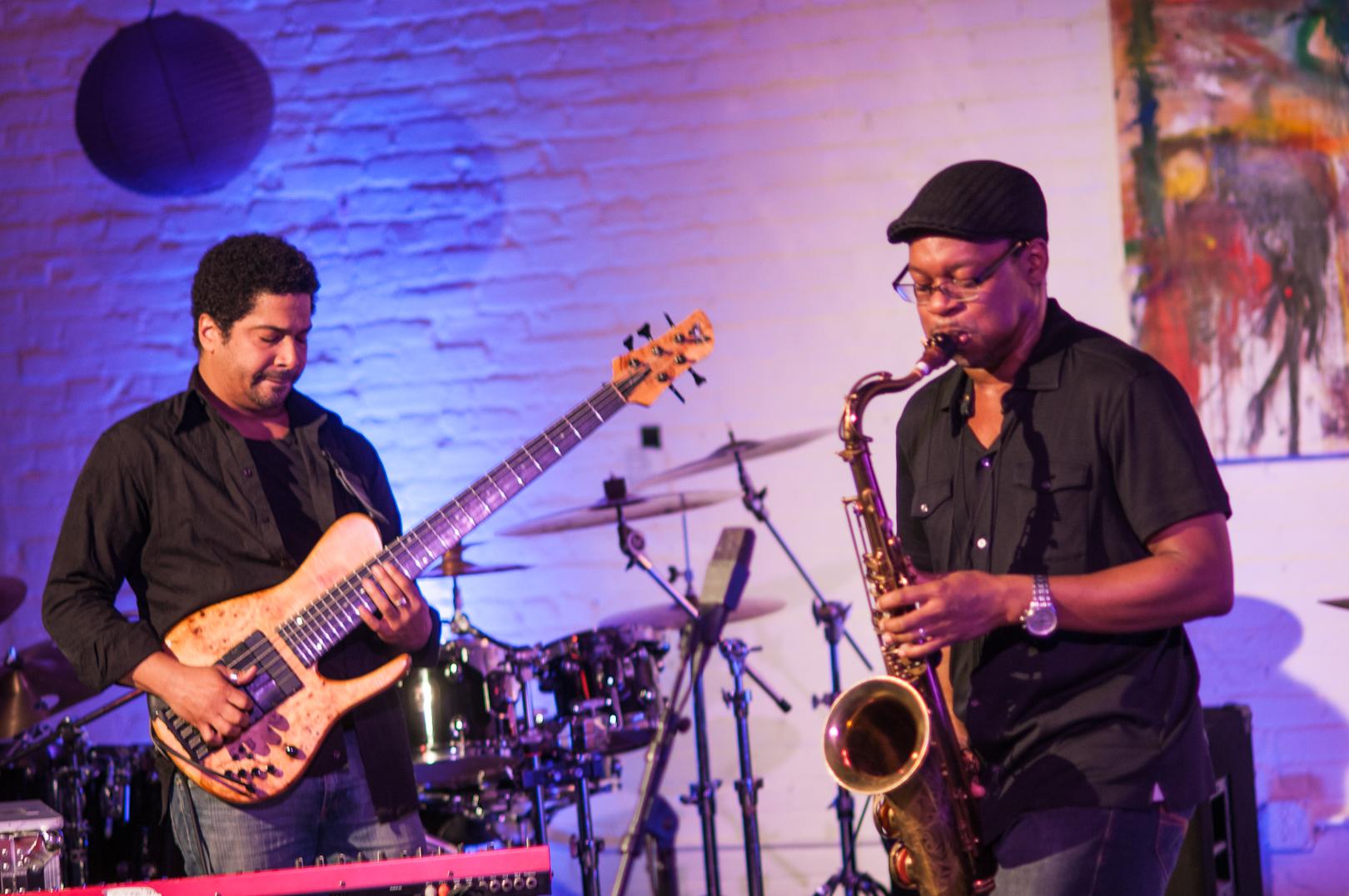 Matt Garrison and Ravi Coltrane at Shapeshifter Lab