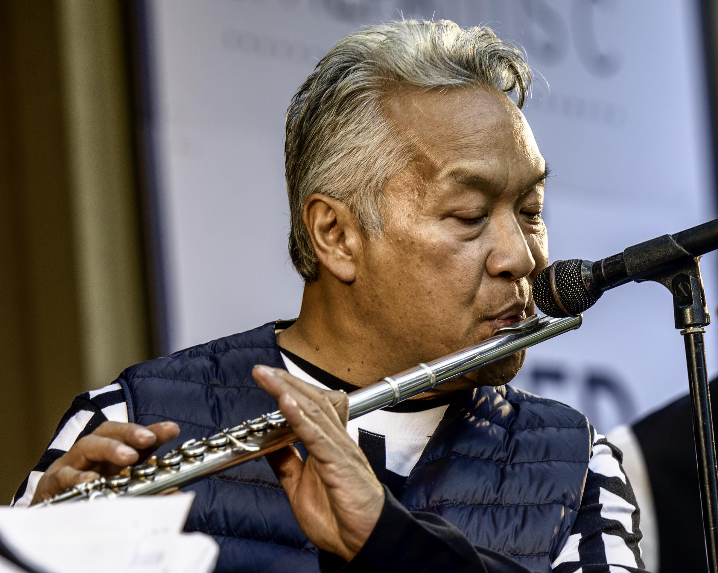 Melecio Magdaluyo with the Ray Obiedo Latin Jazz Project at the Monterey Jazz Festival