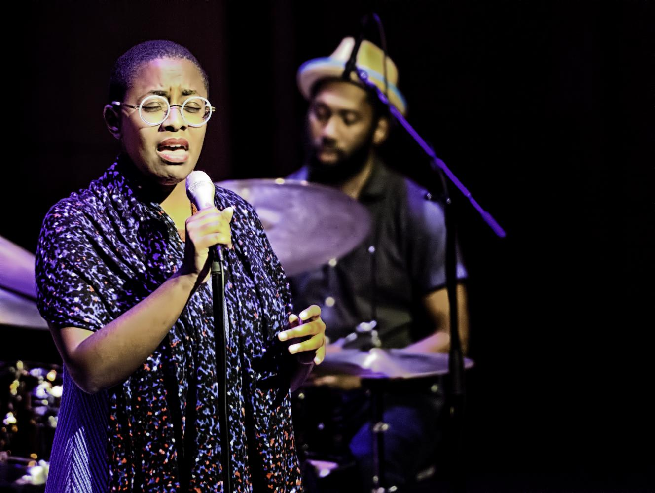 Cecile McLorin Salvant and Lawrence Leathers at the Musical Instrument Museum (MIM) in Phoenix