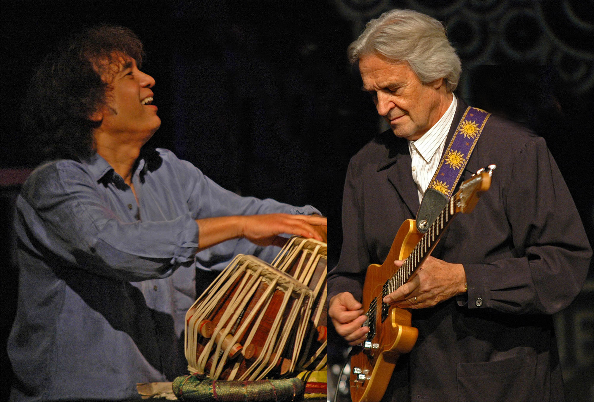 Zakir Hussain and John McLaughlin, Performing at the 2010 New Universe Music Festival