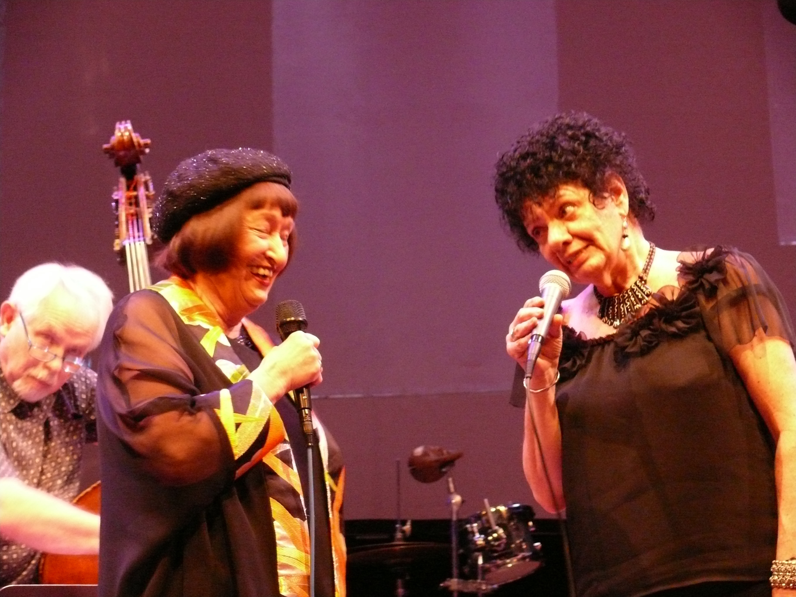Cameron Brown, Sheila Jordan and Jay Clayton at the Vision Festival, NYC in June 2012