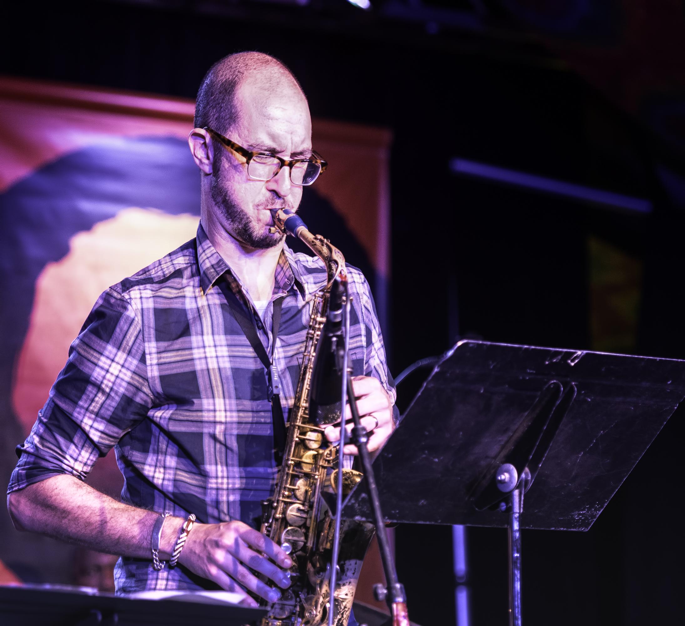 Steve Lehman with the Vijay Iyer Sextet at the Monterey Jazz Festival