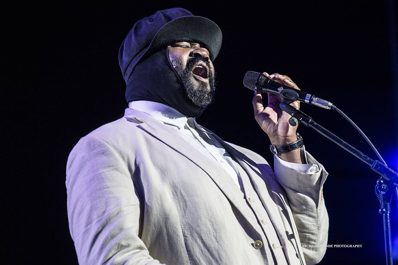 Gregory Porter at the 2018 Freihofer Saratoga Jazz Festival