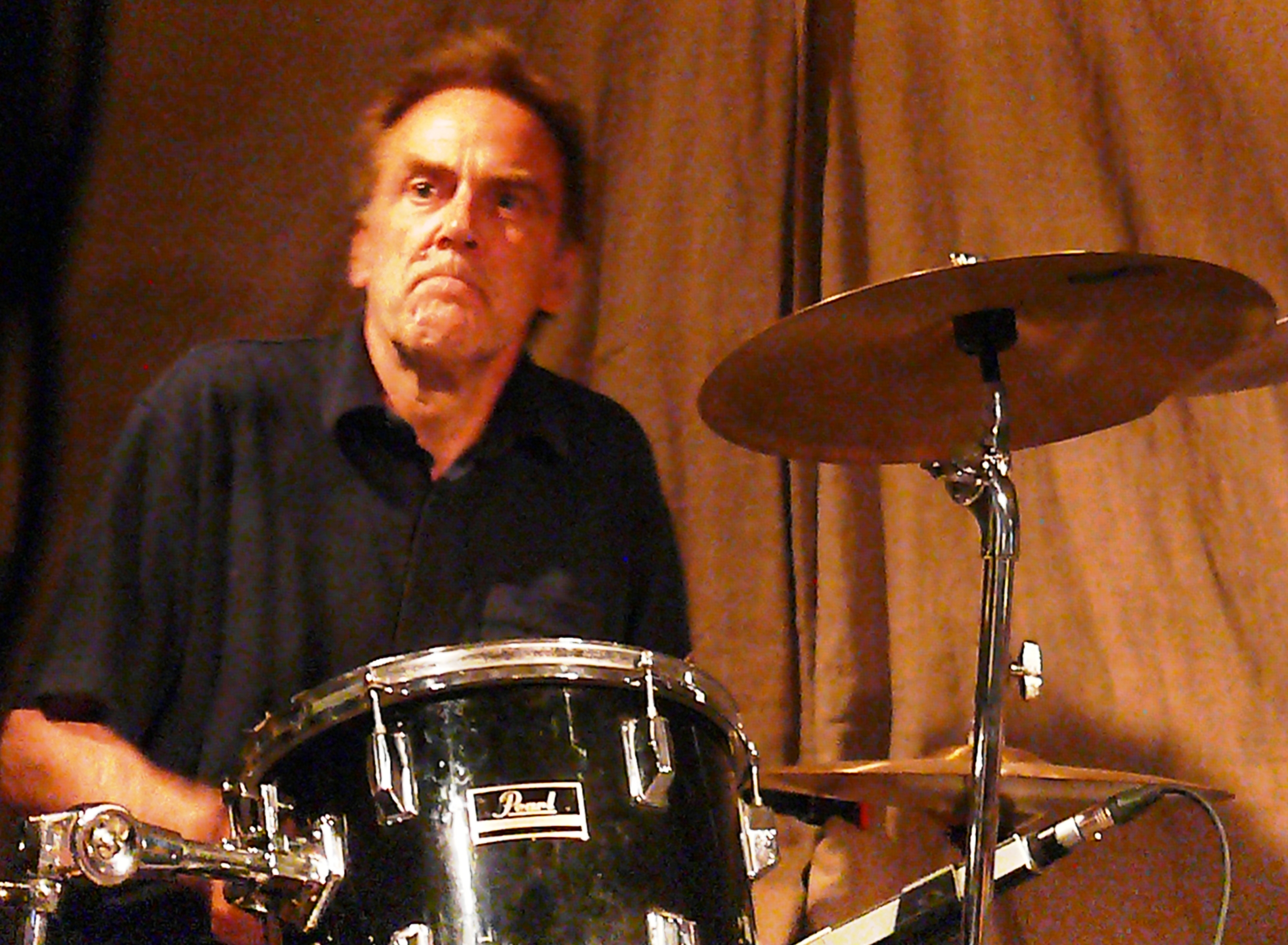 Charles Hayward at Cafe Oto, London in August 2012