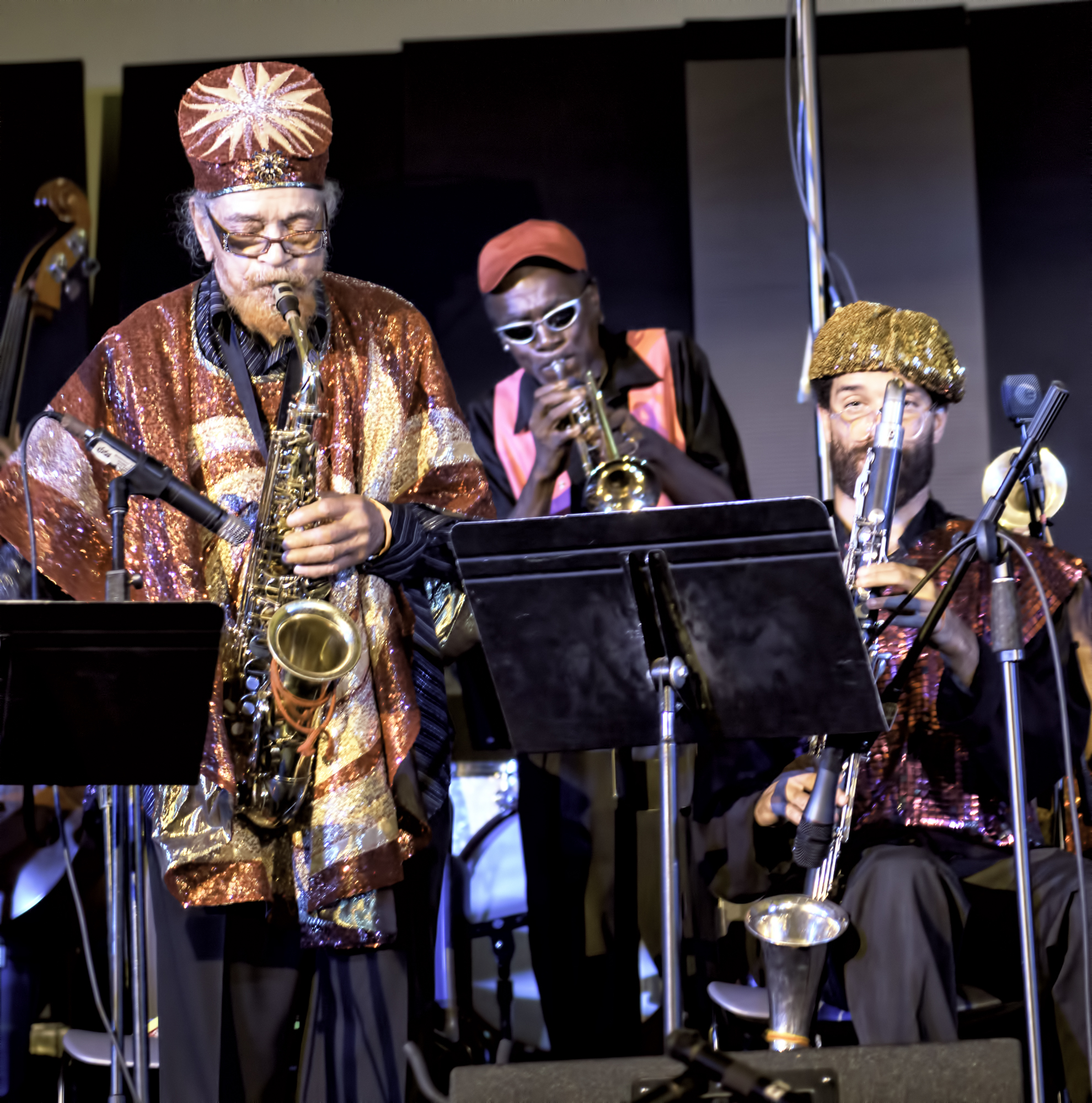 Marshall Allen, Cecil Brooks with the Sun Ra Arkestra at the 20th Anniversary Vision Festival 2015