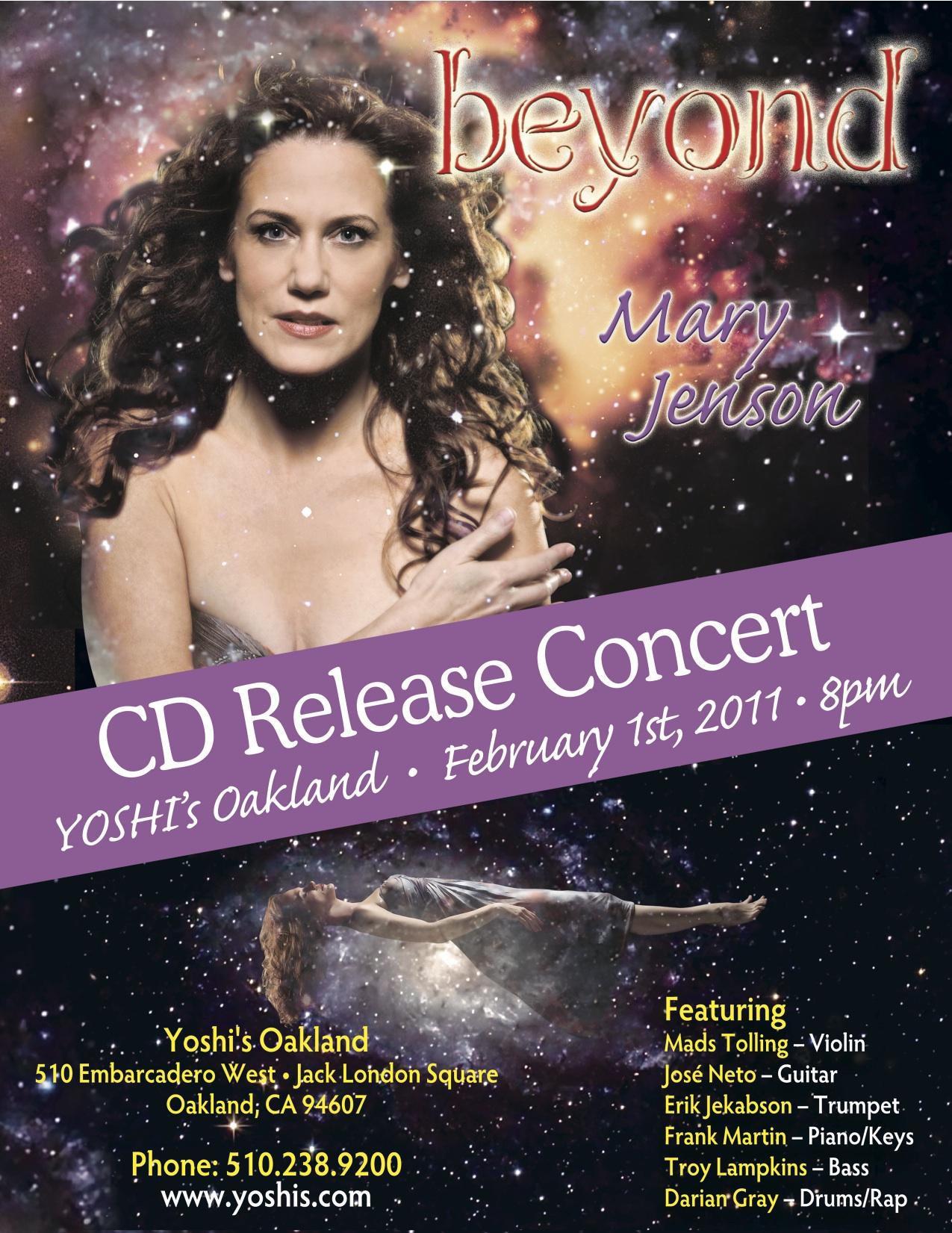 Mary Jenson CD Release at Yoshi's Oakland