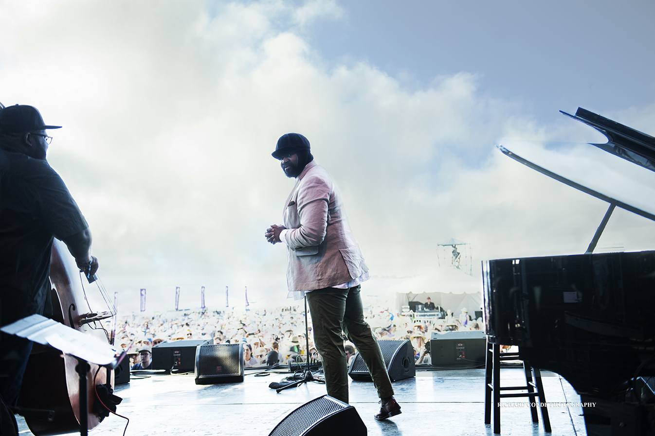 Gregory Porter at the 2018 Newport Jazz Festival