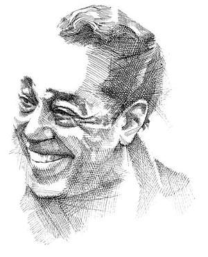 """Cross Hatch Line Drawing of Duke Ellington 14""""X11"""""""