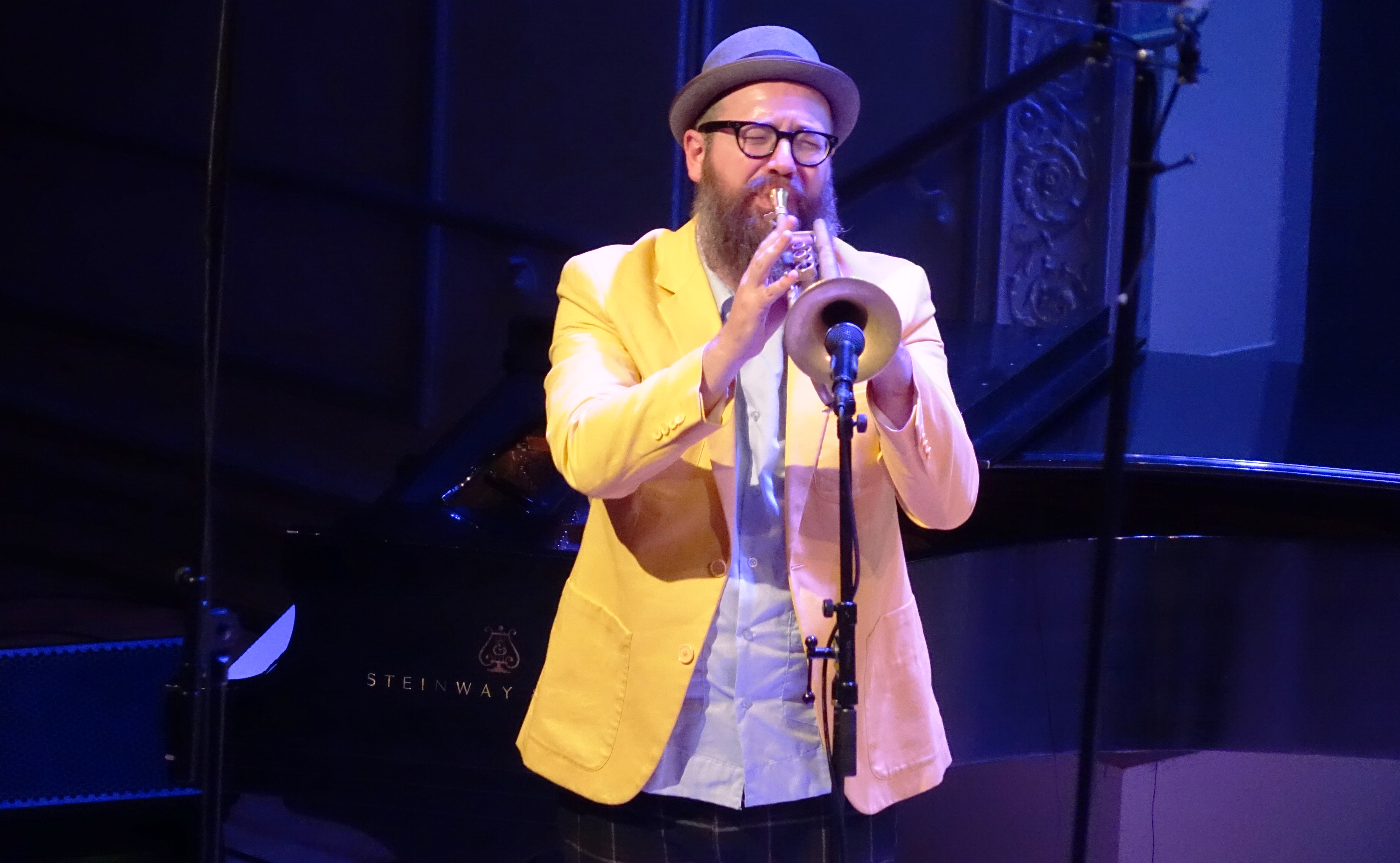 Kirk Knuffke at the Vision Festival in Roulette, Brooklyn in June 2019