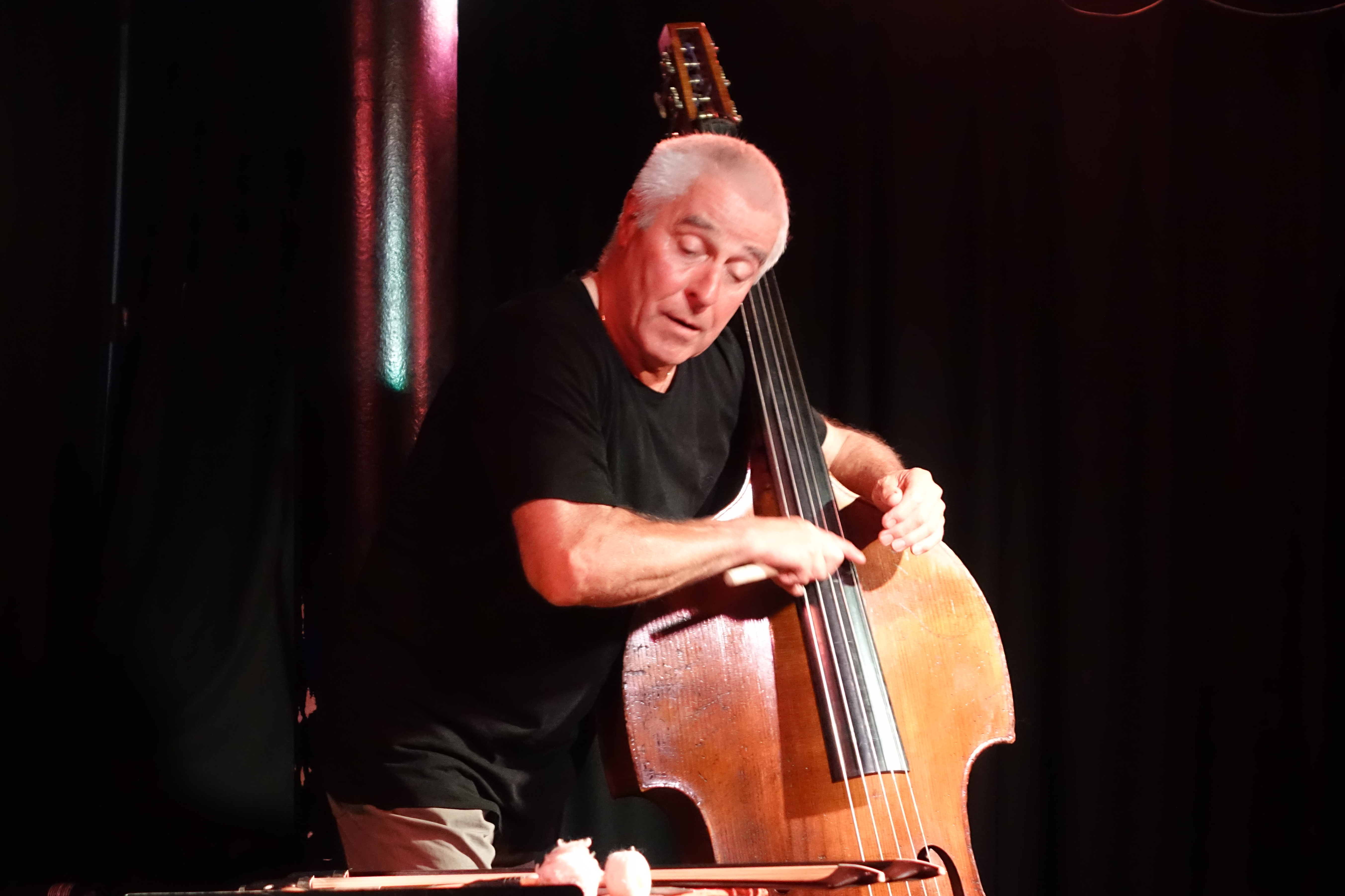Barry Guy at the Vortex, London in July 2018