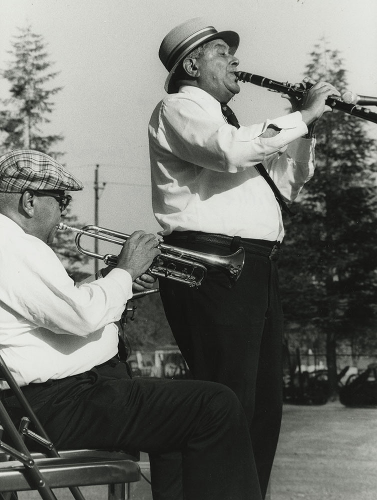 Trumpeter percy and clarinetist willie humphrey on tour and at home