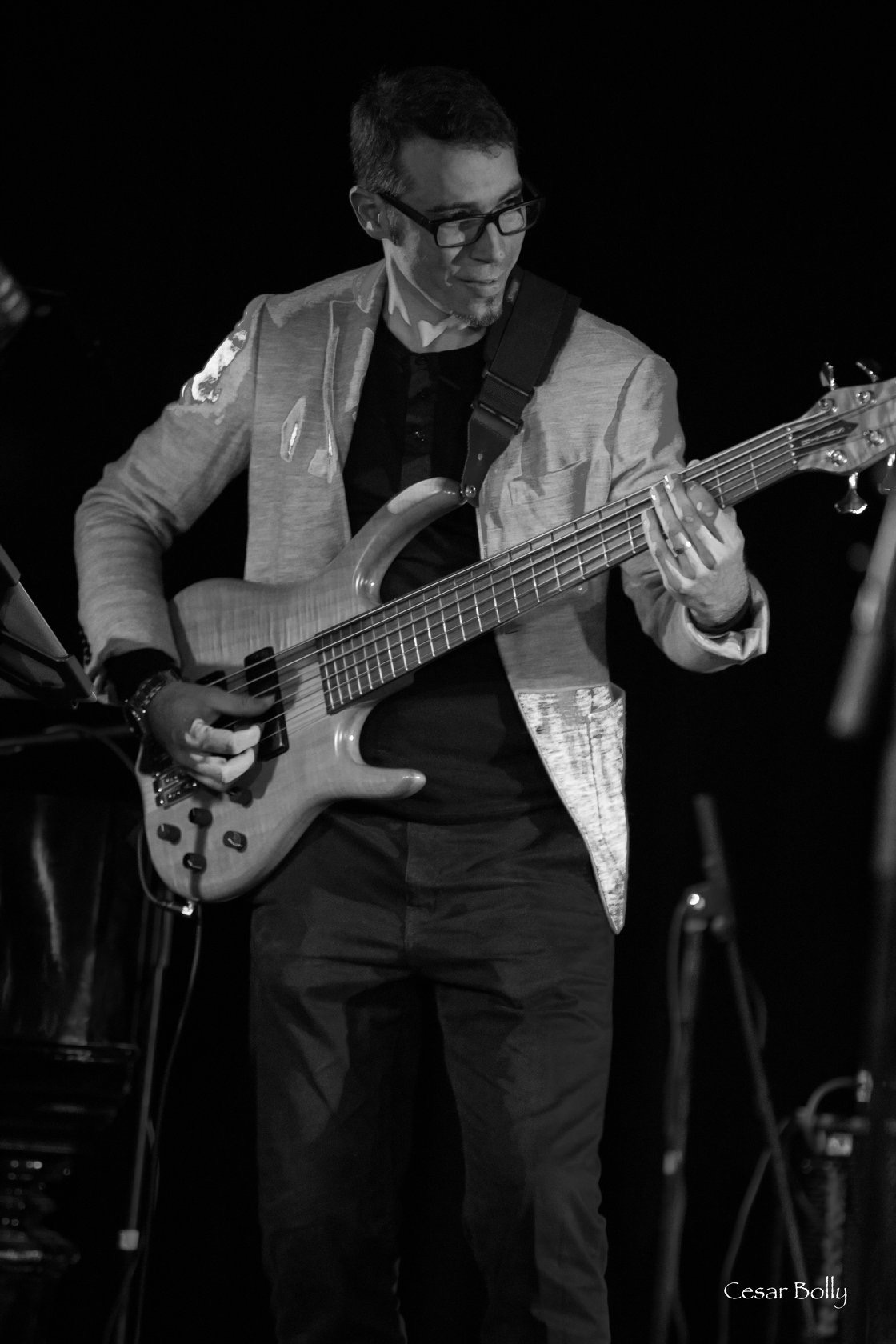 Yasser Pino Bass Player Cuban Jazz Train