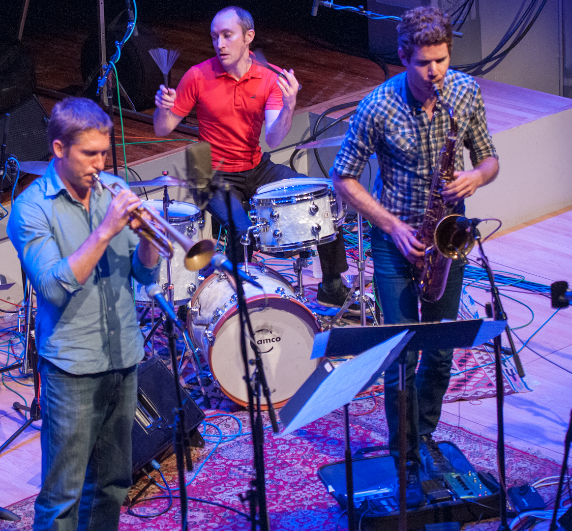Shane Endsley, Nate Wood and Ben Wendel with Kneebody at the Vision Festival 2012