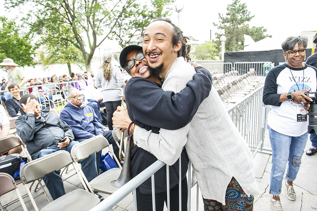 Joan Belgrave and Theo Croker at the 2017 Detroit Jazz Festival