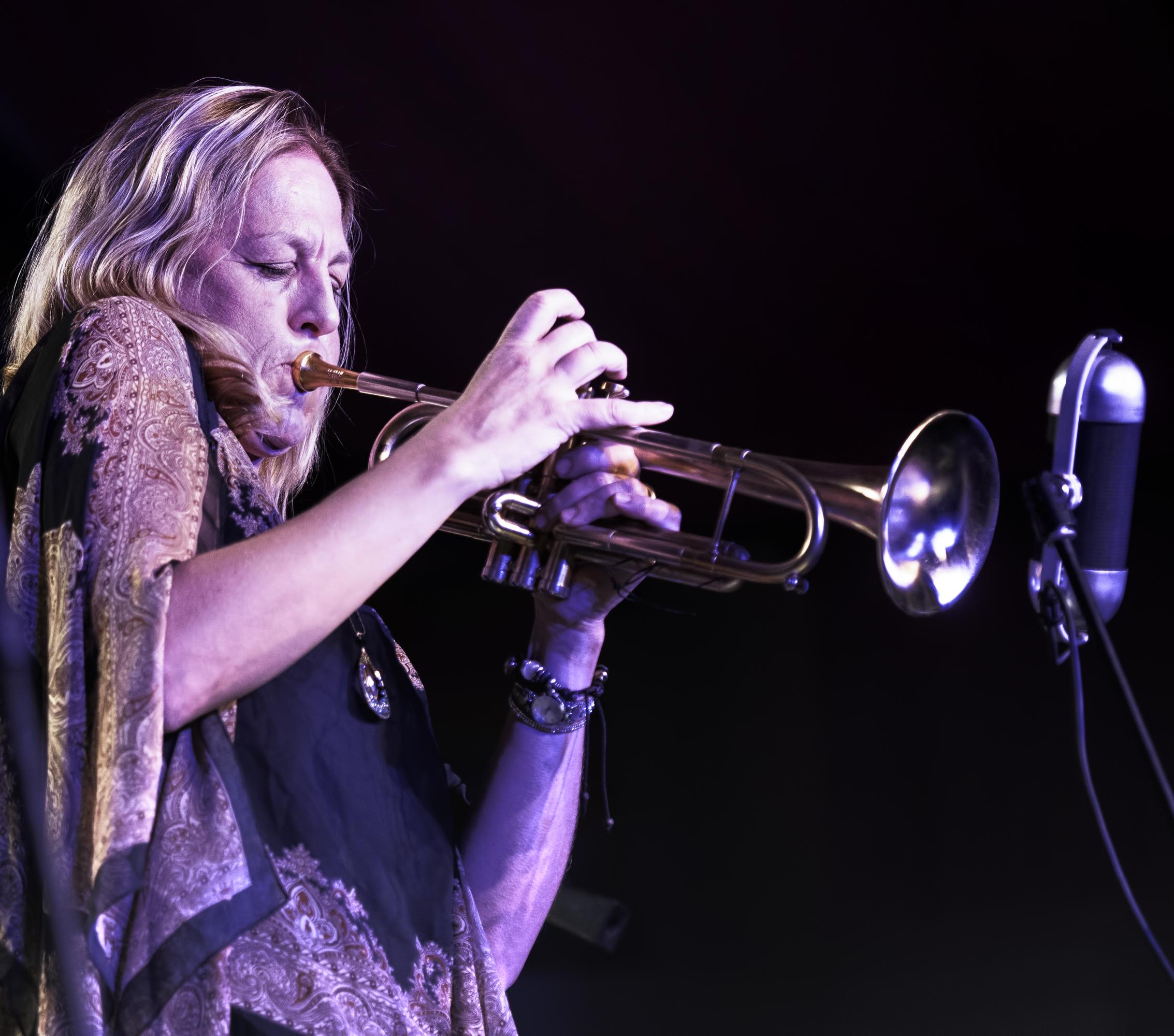 Ingrid Jensen with the Tia Fuller Quintet at the Monterey Jazz Festival