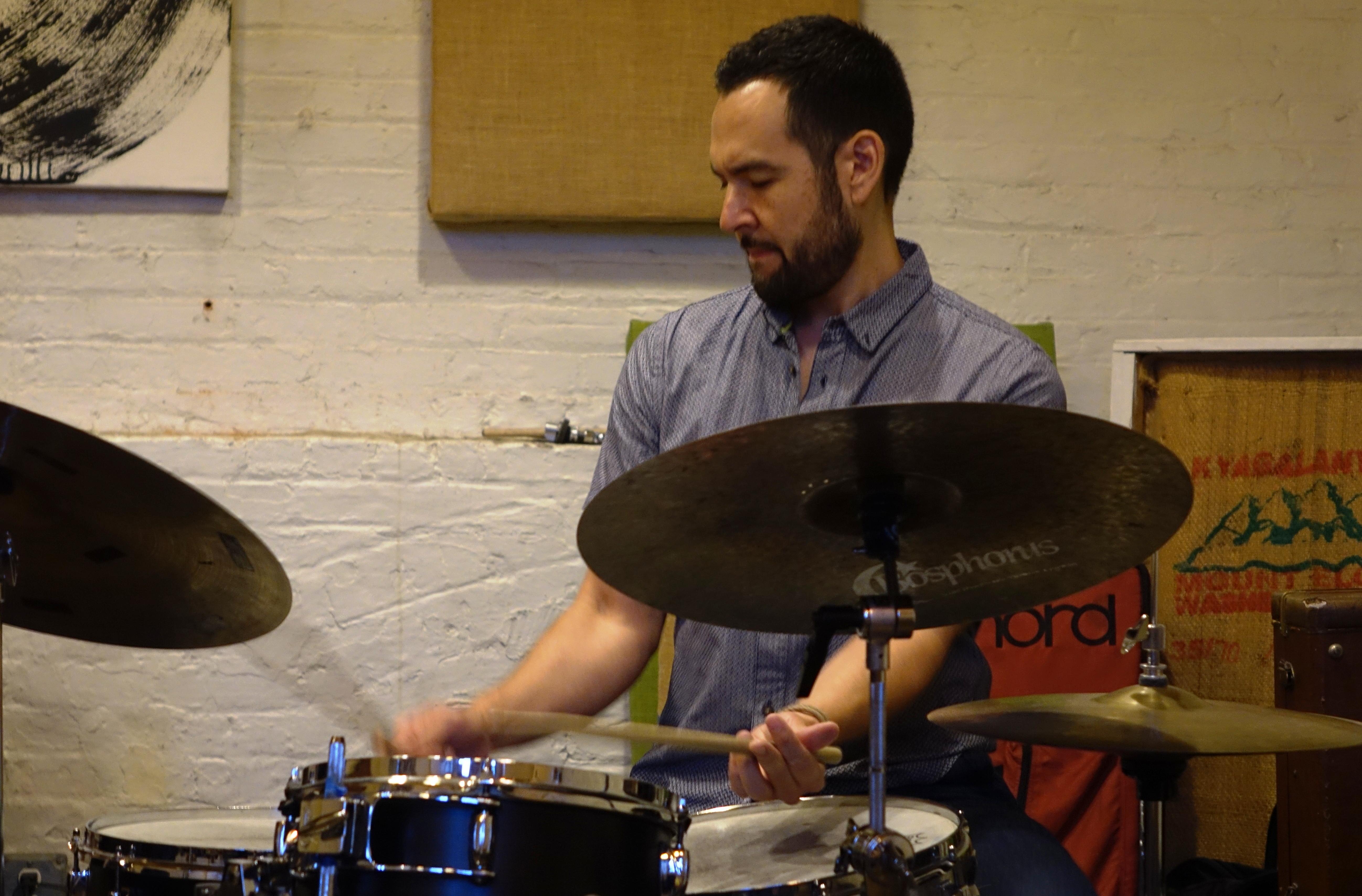 Tomas Fujiwara at IBeam, Brooklyn in June 2019