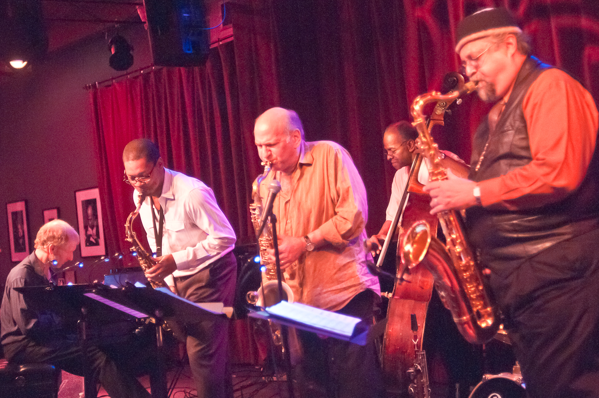 Phi Markowitz, Ravi Coltrane, Dave Liebman, Cecil McBee and Joe Lovano with Saxophone Summit