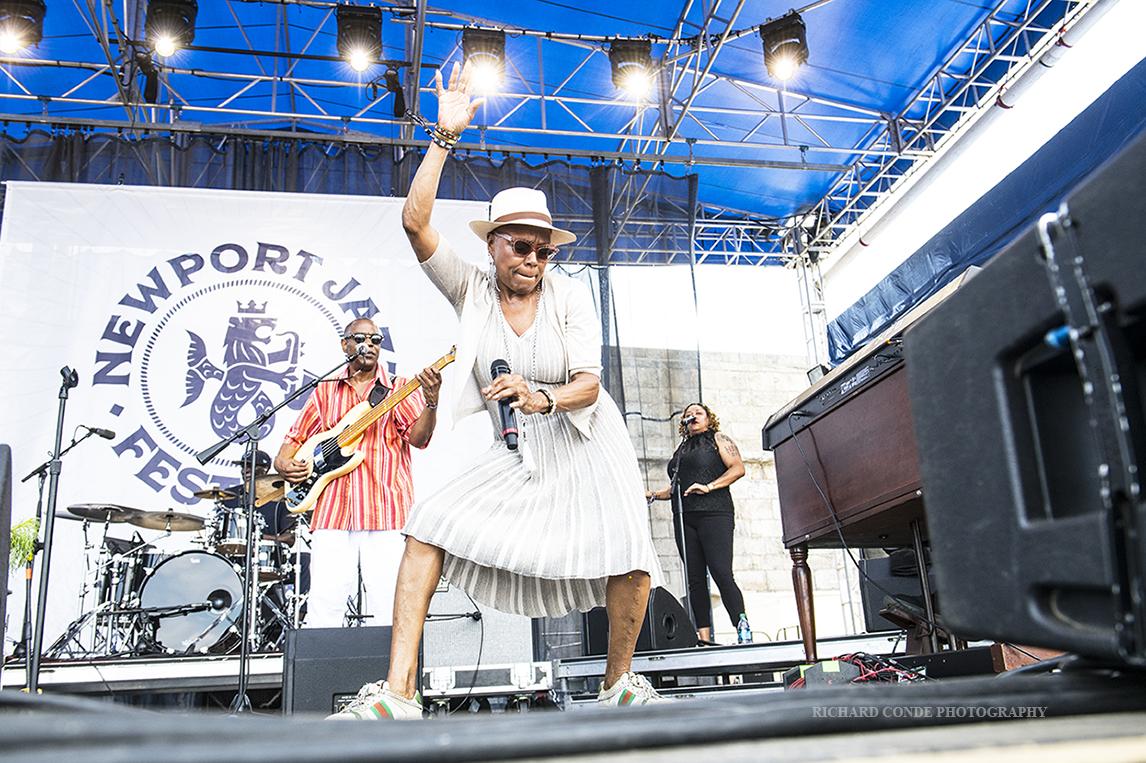 Dee Dee Bridgewater at the 2019 Newport  Jazz Festival
