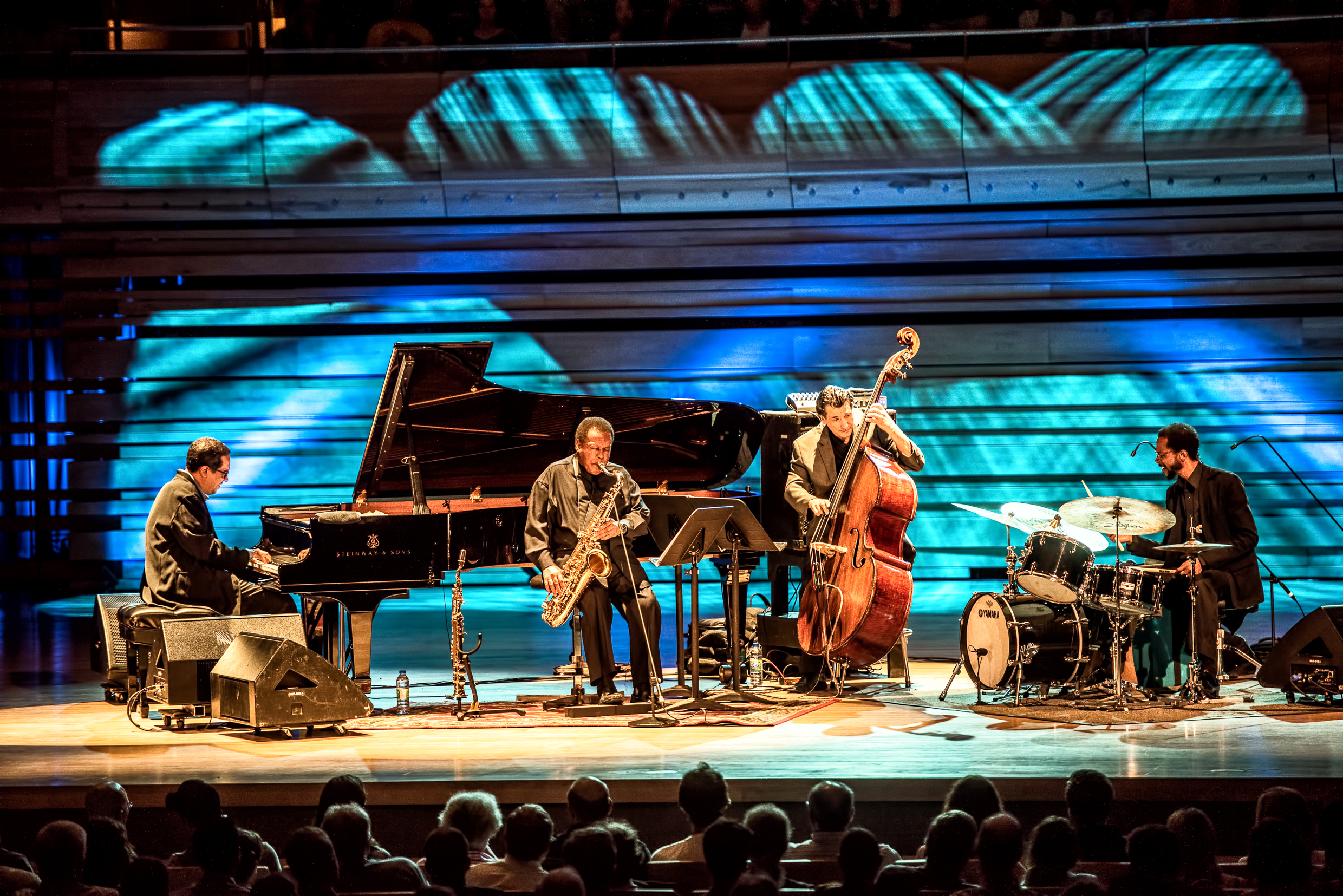 Danilo Perez, Wayne Shorter, John Patitucci and Brian Blade with the Wayne Shorter Quartet at the Montreal International Jazz Festival 2015