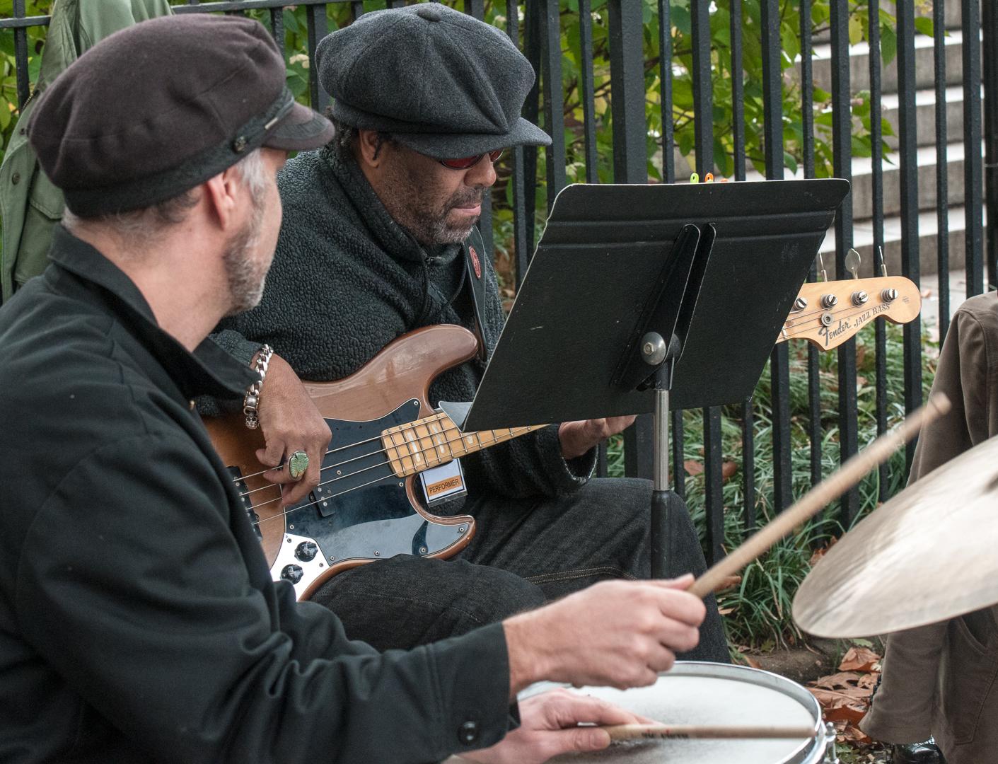 Tony Mason and Fred Cash with Marika Hughes & Bottom Heavy at Jazz and Colors in Central Park