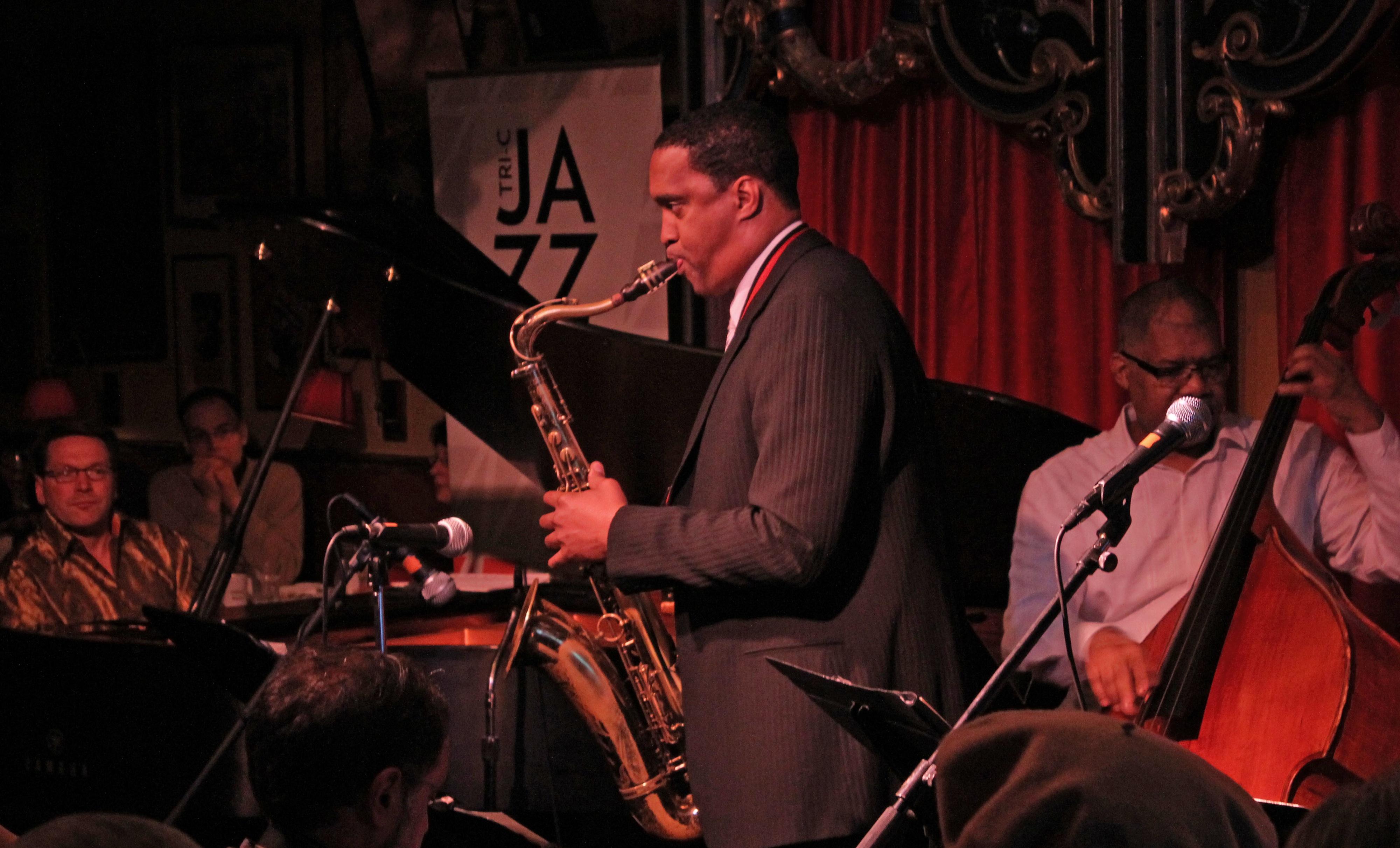 Chip stephens, javon jackson and glenn holmes at tri-c jazzfest cleveland 2013