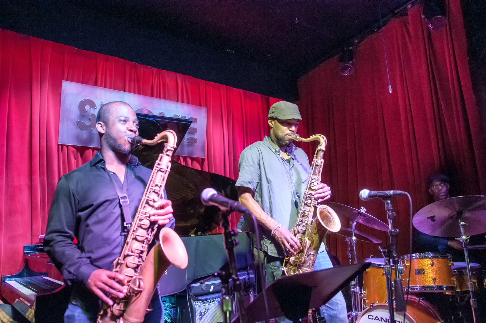 Tivon Pennicott and Stacy Dillard with the Stacy Dillard Quintet at Smoke Jazz Club