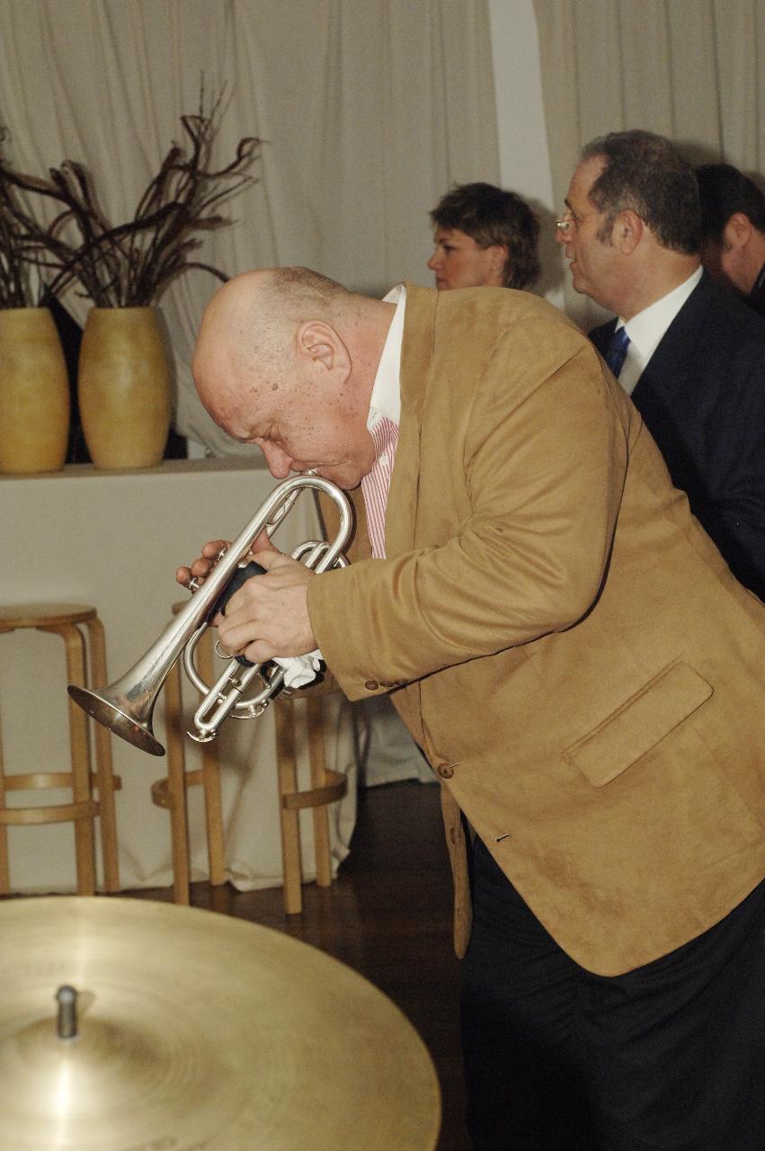 John Armato with Warren Vache