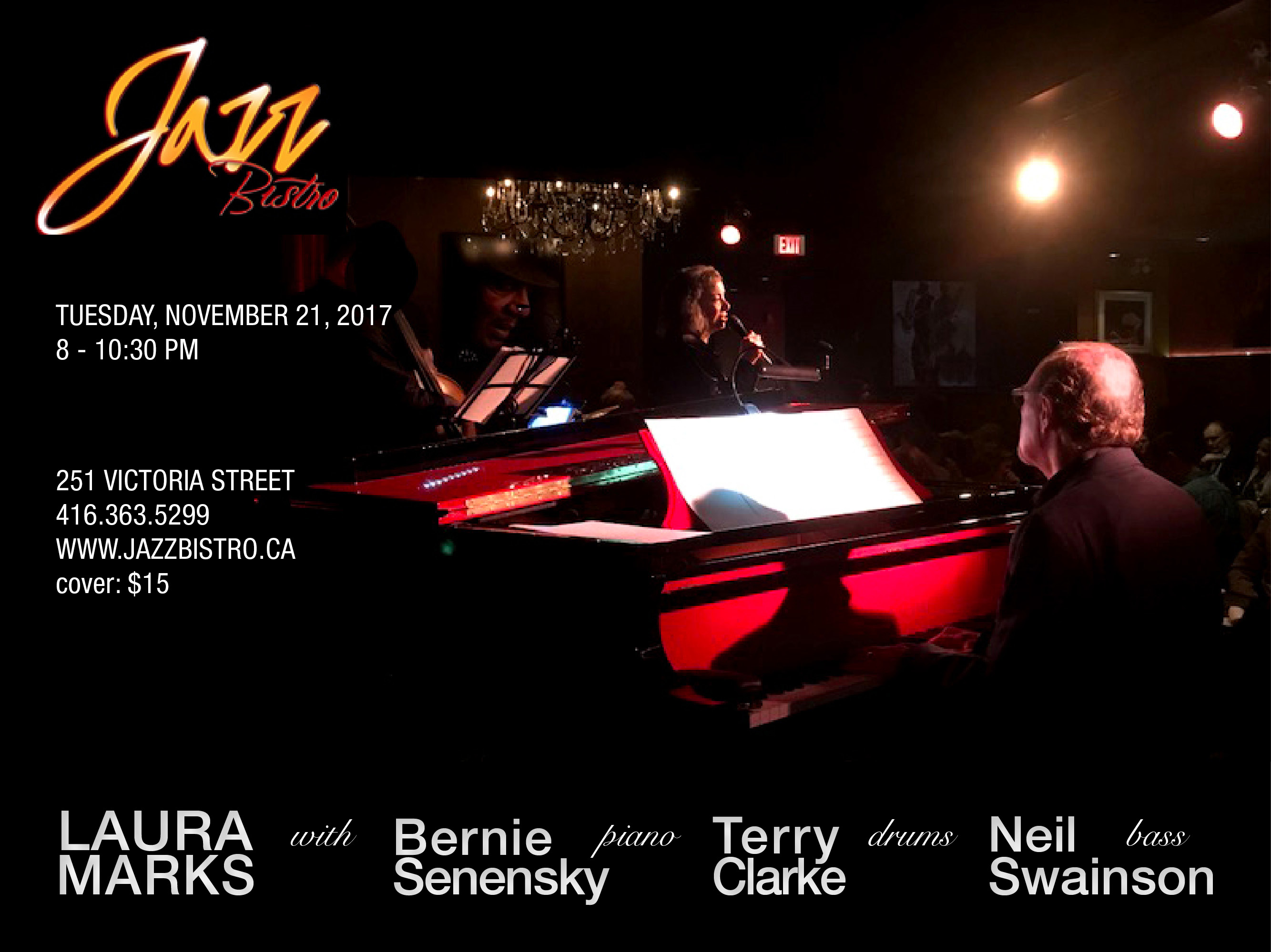 Laura Marks and the Bernie Senensky Trio at Jazz Bistro