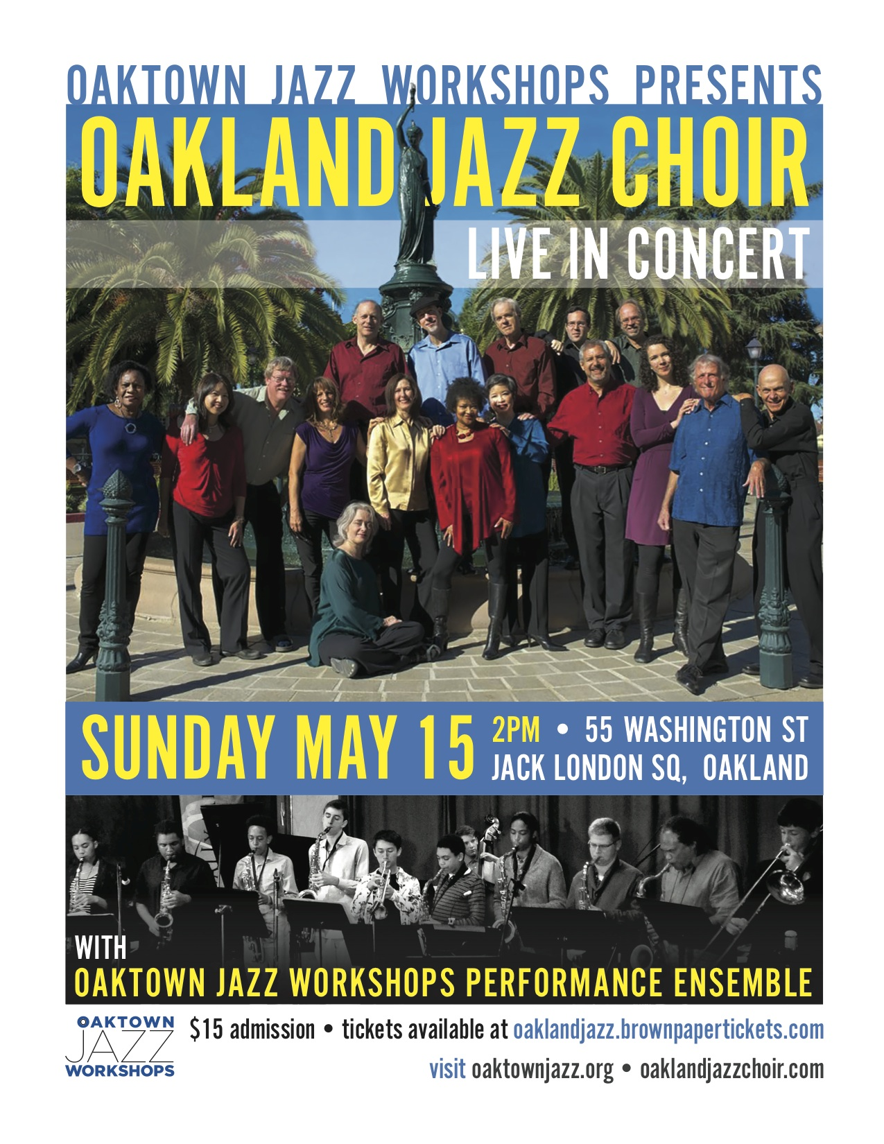 The Oakland Jazz Choir In Collaboration With The Oaktown Jazz Workshops' Performance Ensemble Celebrate Spring With A Joint Performance