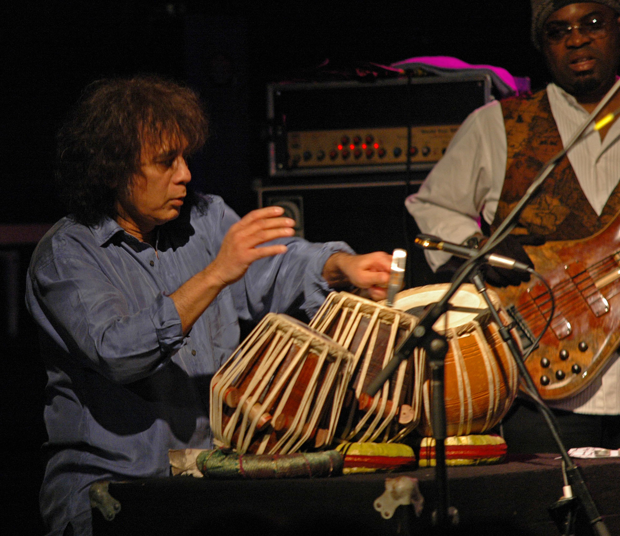 Surprise Guest Zakir Hussain, Performing with John McLaughlin and the 4th Dimension at the 2010 New Universe Music Festival