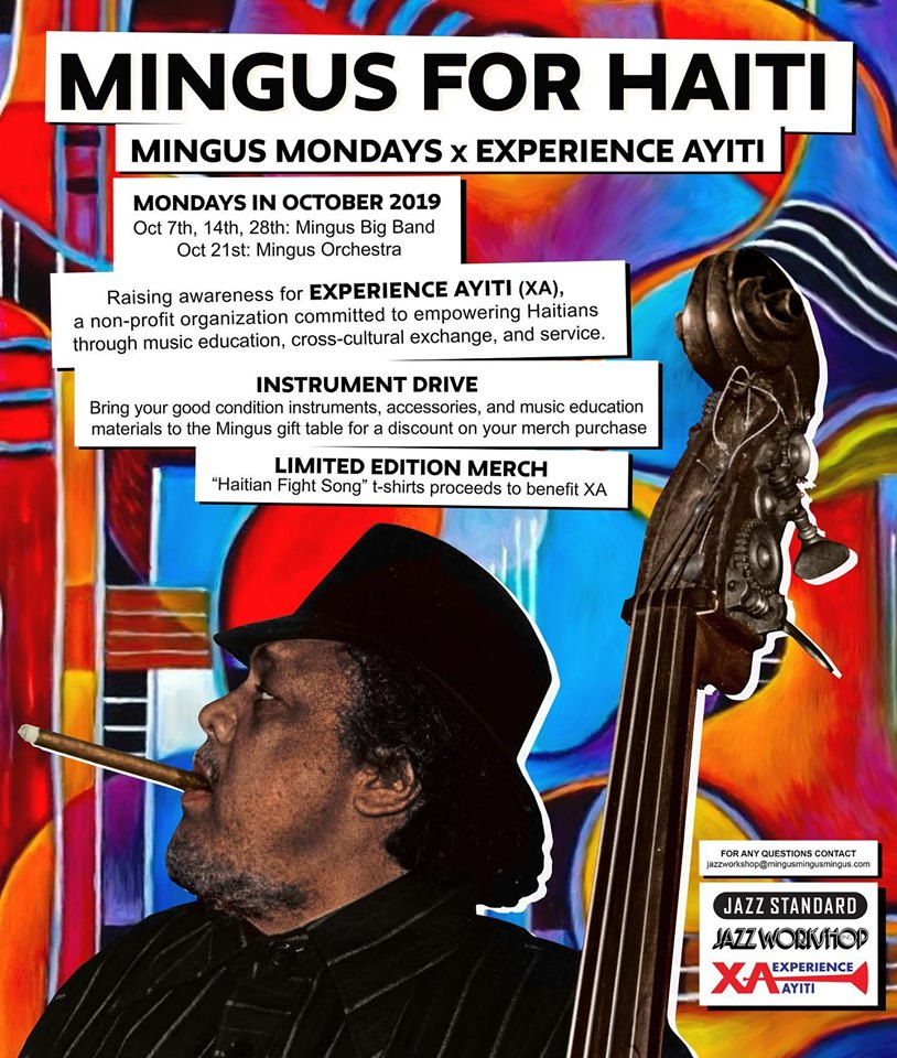 Experience Ayiti Joins With The Mingus Big Band At New York's Jazz Standard This October To Support Music Initiatives In Haiti