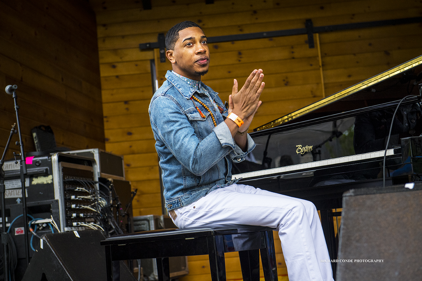 Christian Sands at the 2018 Freihofer Saratoga Jazz Festival