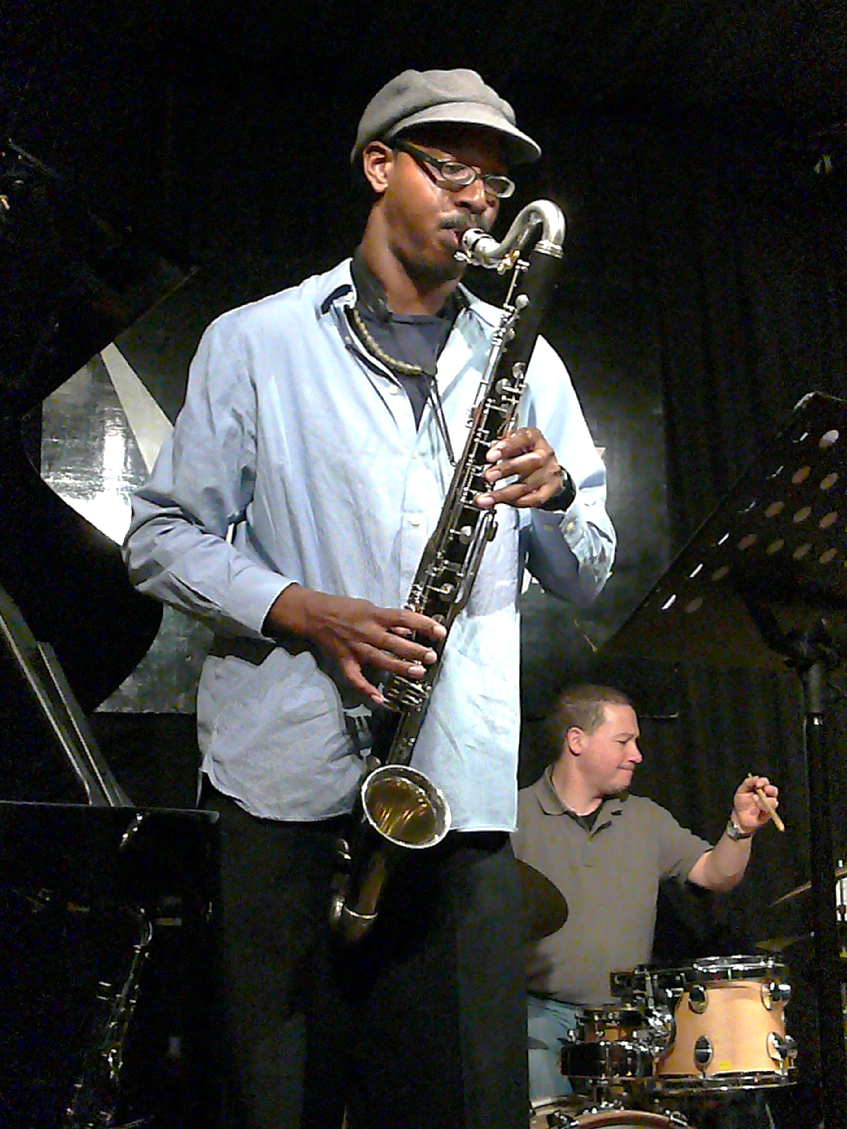 Shabaka Hutchings and Mark Sanders at the Vortex 5 January 2010