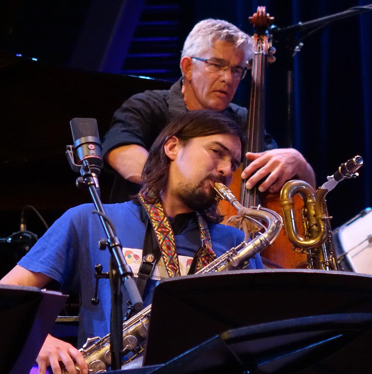 Wilbert de Joode and John Dikeman at Doek Festival 2015