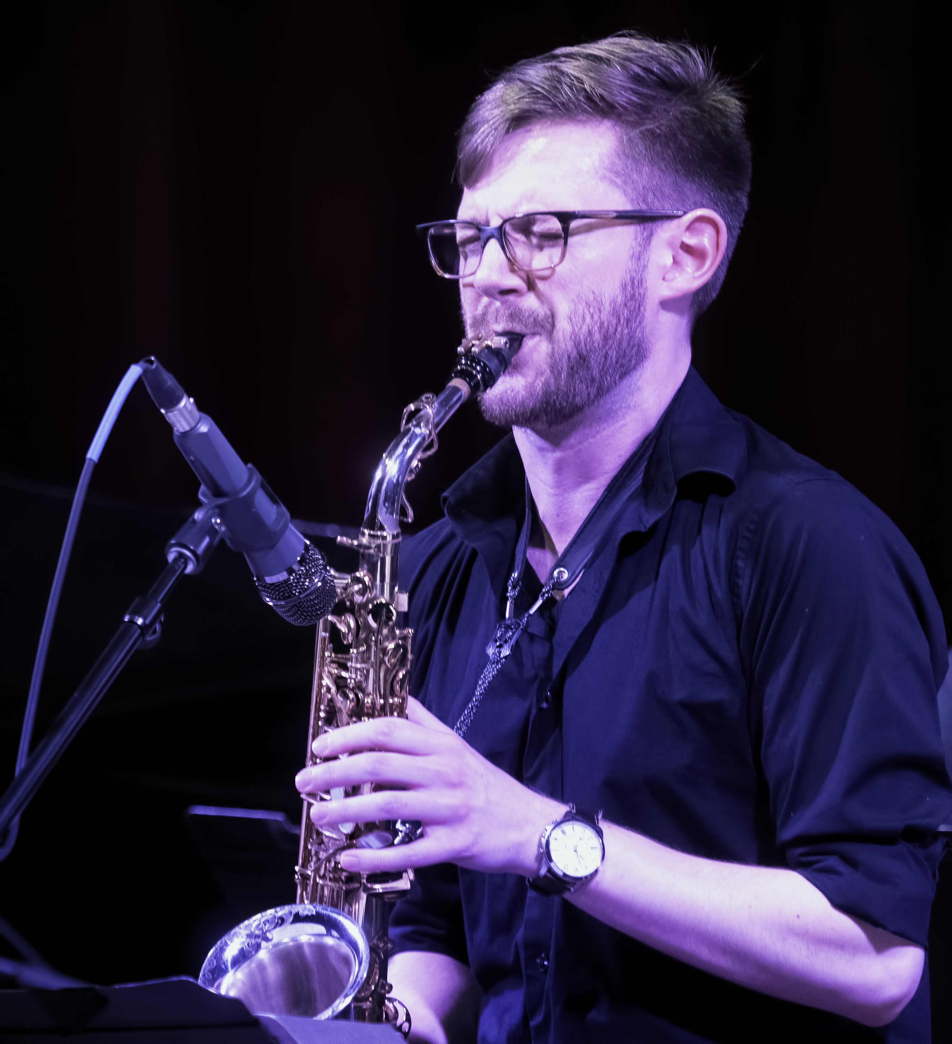 Nathan Reising with the Tyshawn Sorey Sextet at the NYC Jazz Gallery