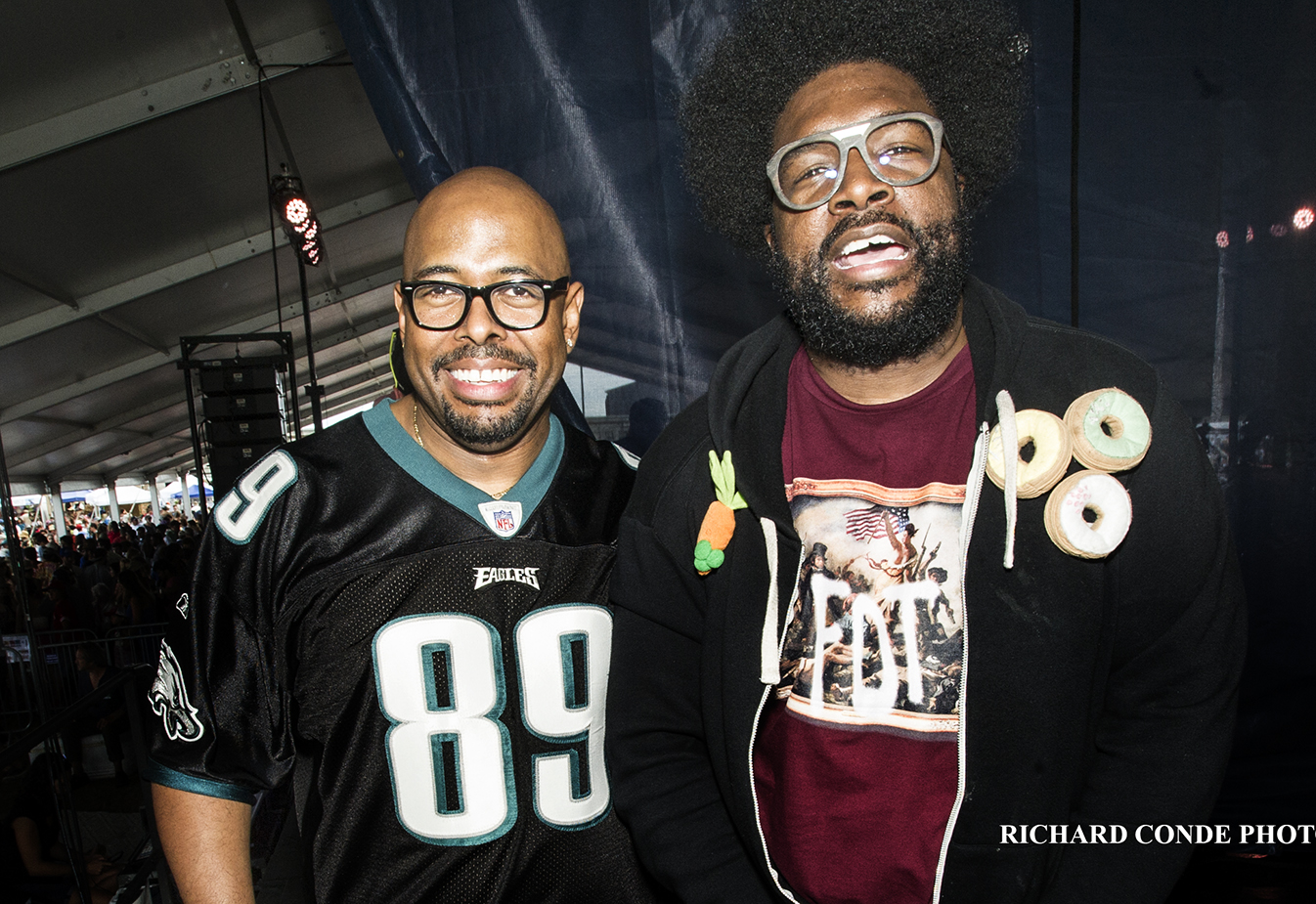 Christian McBride and Quest Love at the 2017 Newport Jazz Festival