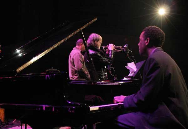 "Danny Grissett, Tom Harrell and Jimmy Greene with the ""Tom Harrell Quintet"" at the Amr Jazz Festival, Alhambra, Geneva, Switzerl"