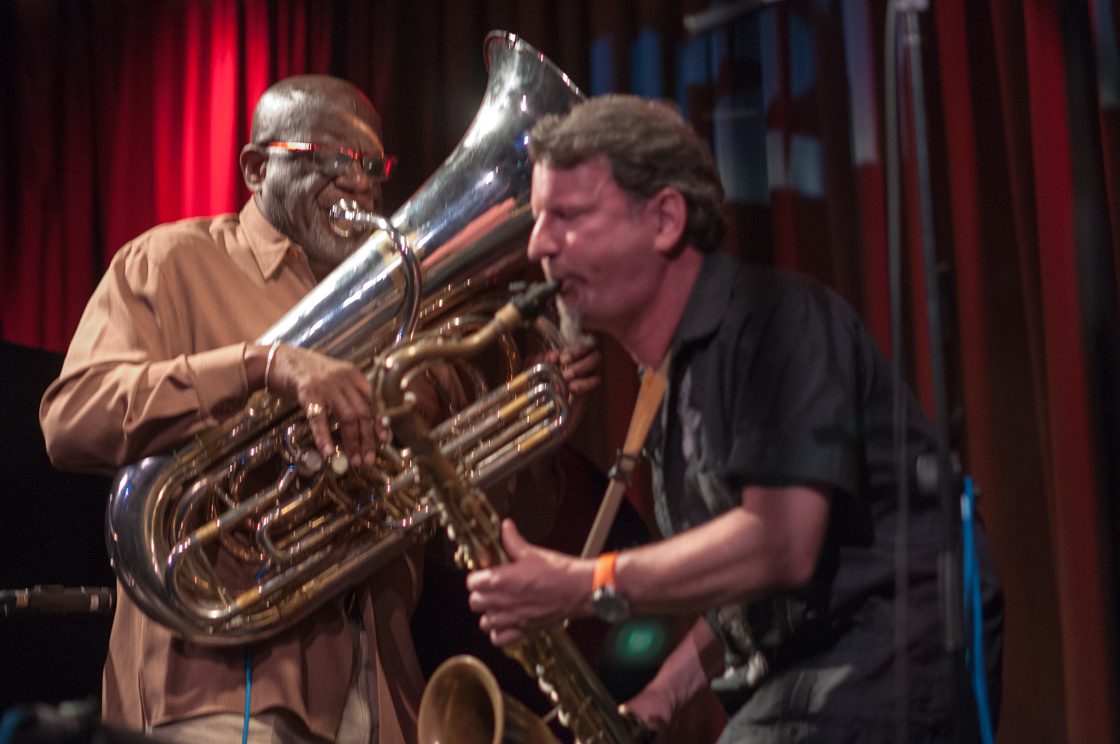 Bob Stewart and Jeff Lederer at the Undead Music Festival