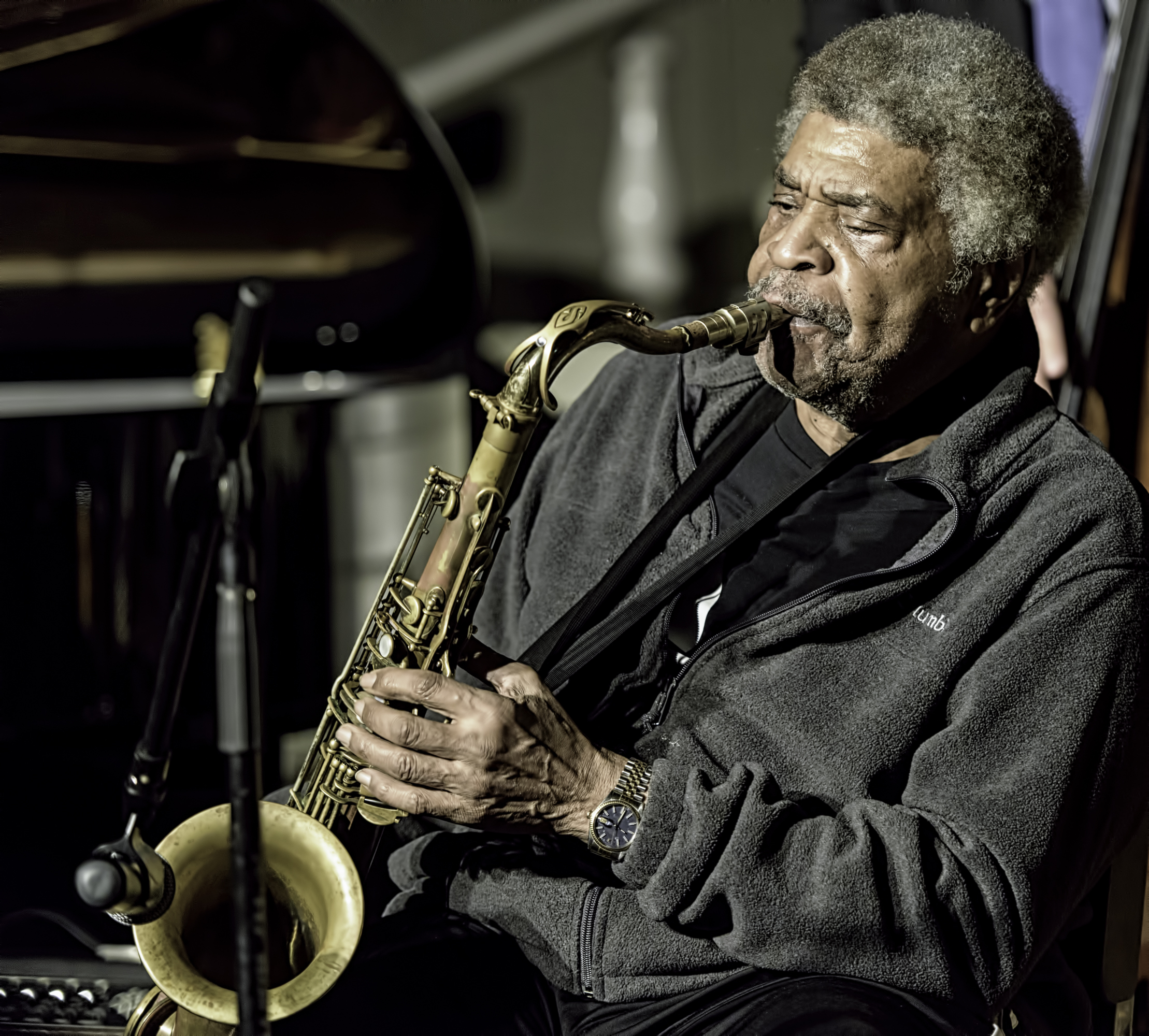 George Coleman at the Jazz Legends for Disability Pride at the NYC Winter Jazzfest 2016