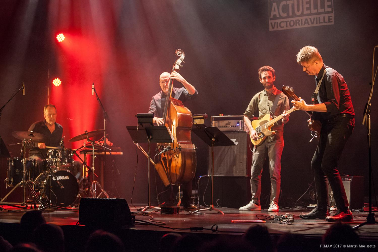 Nels Cline Four, Victoriaville, May 21 2017, Nels Cline, Julian Lage, Scott Colley, Tom Rainey