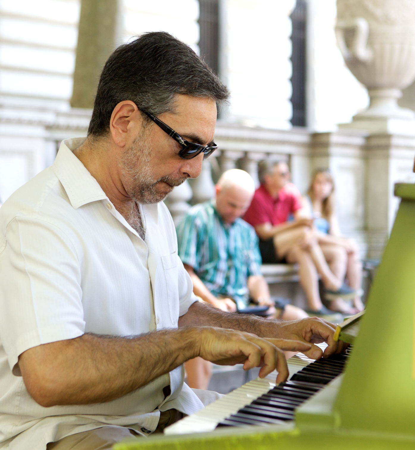 Mike Ledonne at Bryant Park, New York City, July 2012