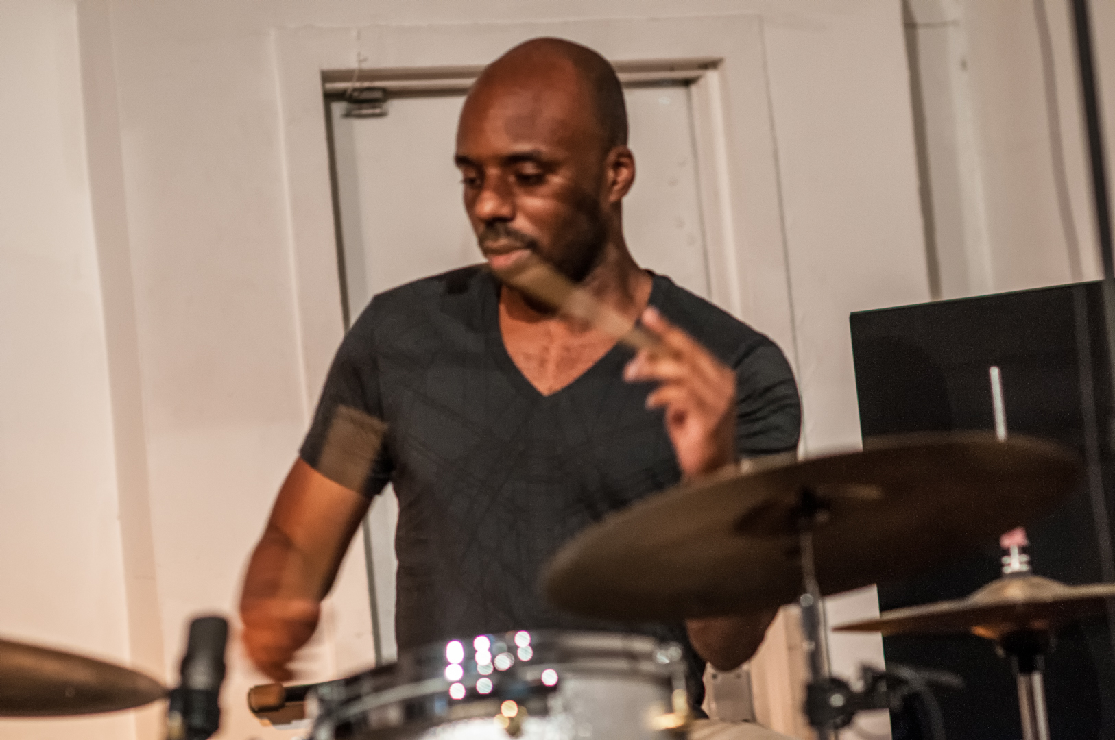 Chad taylor with the darius jones quartet at the jazz gallery