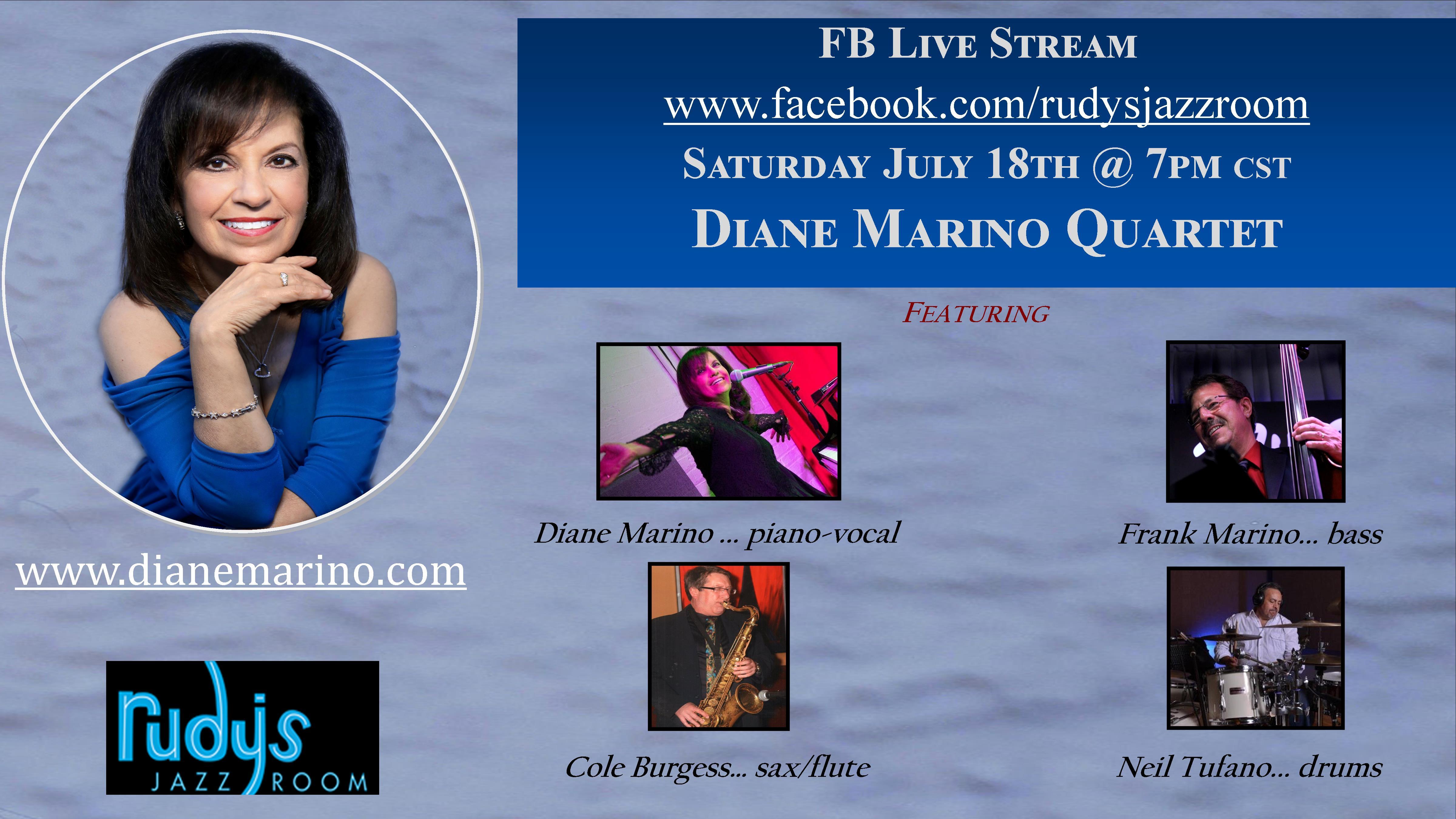 Diane Marino Quartet - Livestream