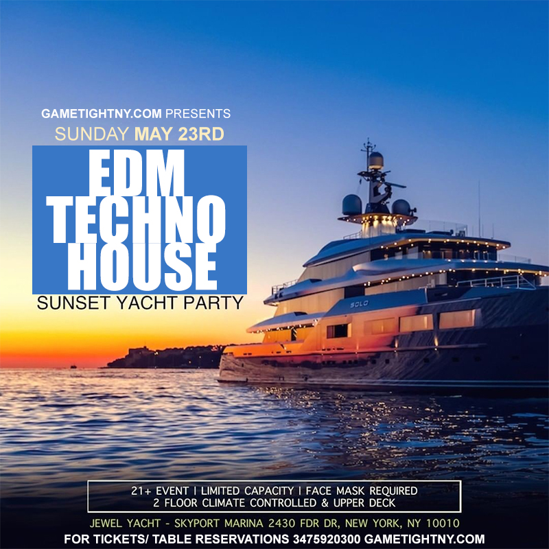 Edm Sunset Yacht Party Sunday Funday Cruise Skyport Marina Jewel Yacht 2021