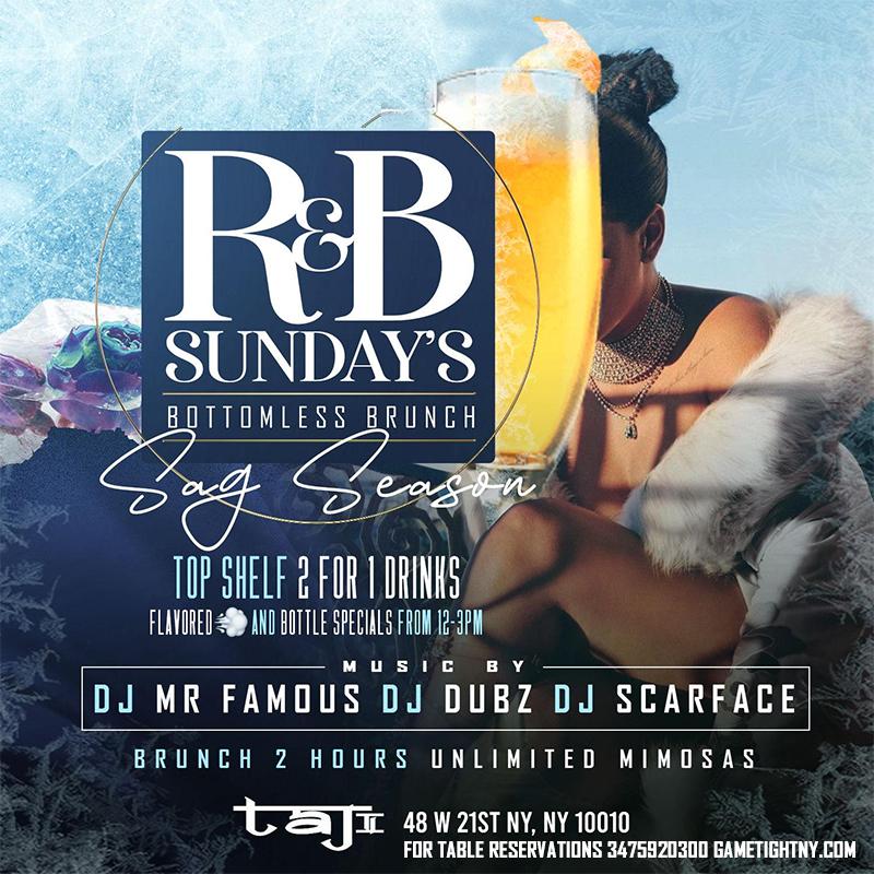 Taj Lounge Nyc Hip Hop Vs. Reggae® Sunday Funday Brunch & Day Party 2020