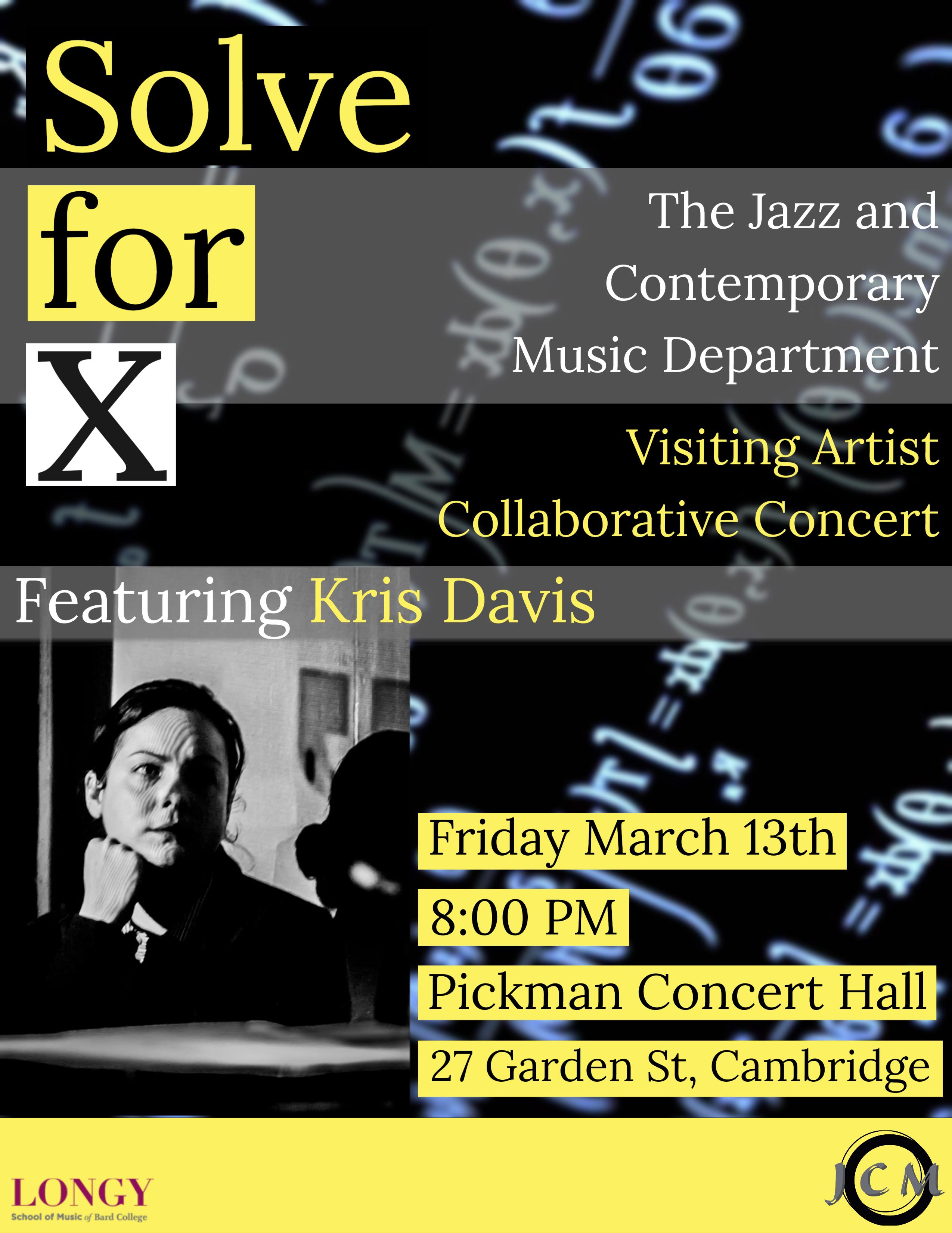 Kris Davis & The Jcm Dept. At Longy